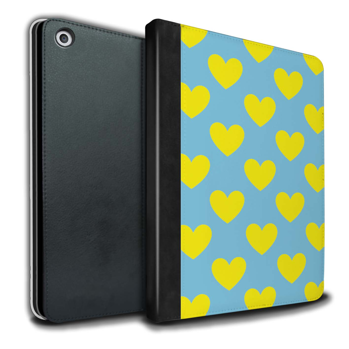 STUFF4-Coque-Etui-Case-Cuir-PU-pour-Apple-iPad-9-7-2017-Yellow-Fashion
