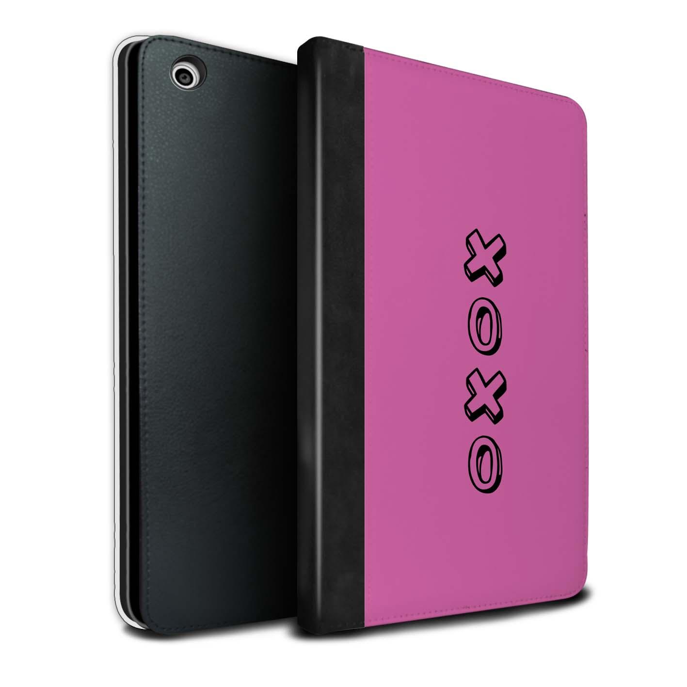 STUFF4 PU-Leder Hülle/Case/Tasche für Apple iPad Mini 1/2/3/Heart XOXO