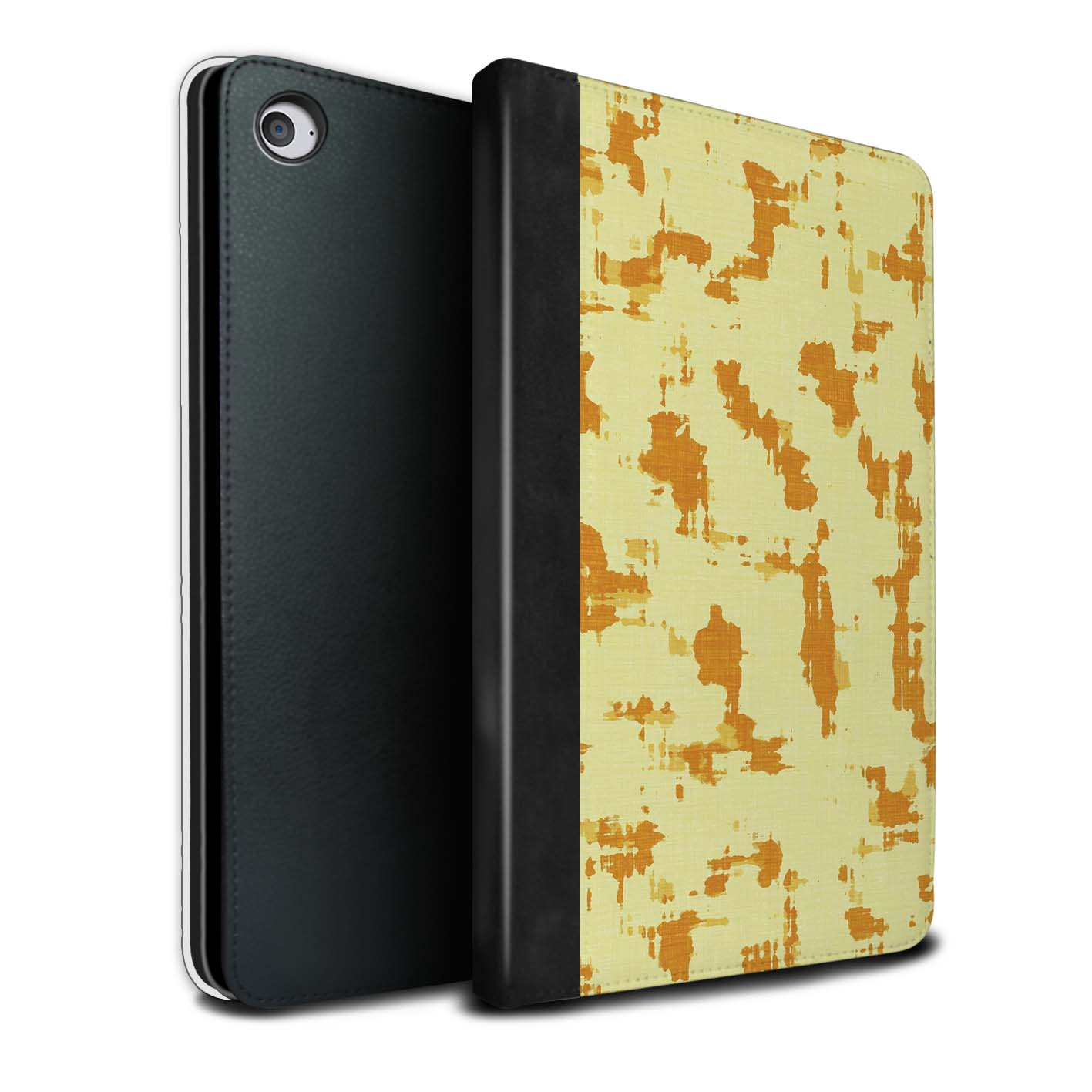 STUFF4-Coque-Etui-Case-Cuir-PU-pour-Apple-iPad-Mini-4-Yellow-Fashion