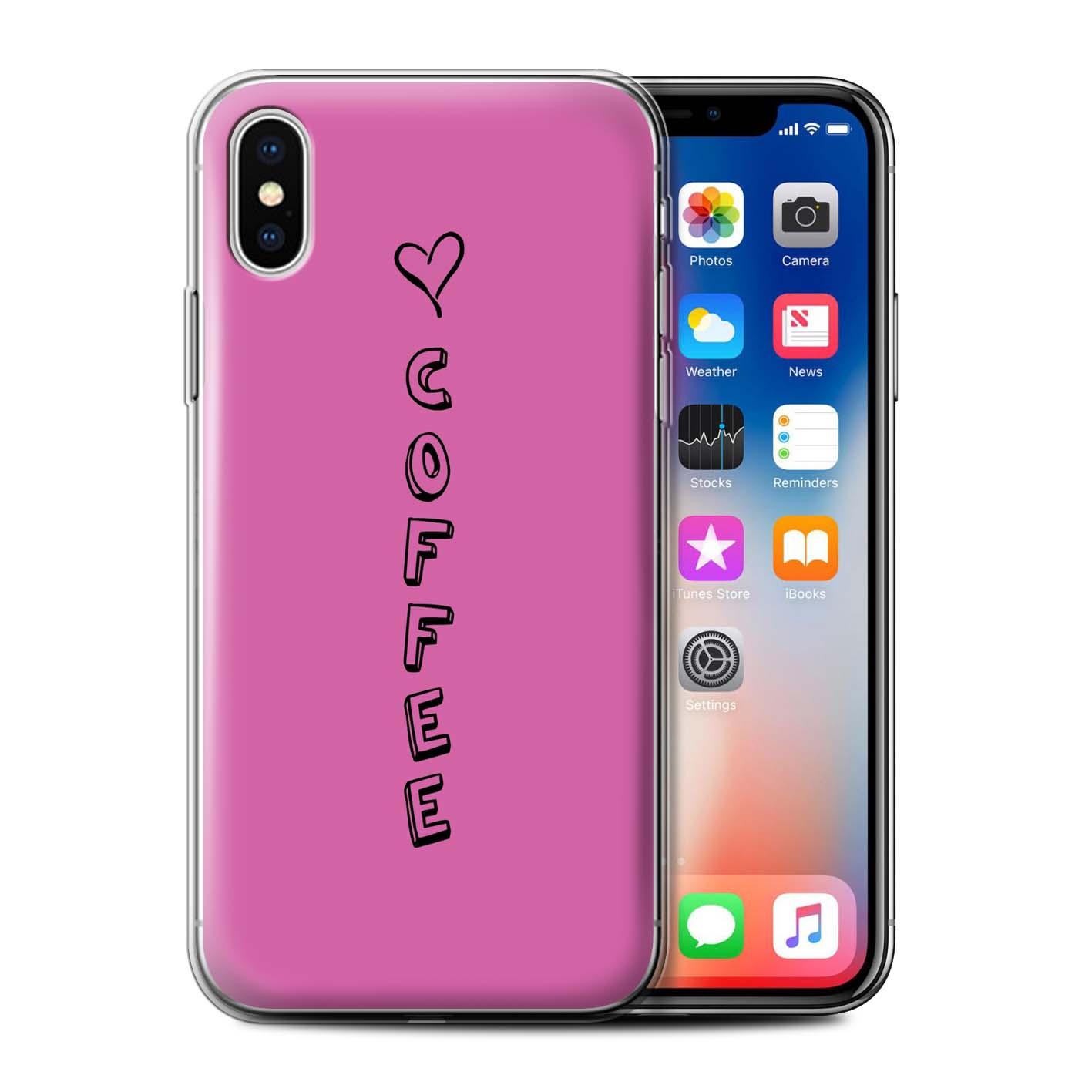 Stuff 4 Gel/TPU Funda de Teléfono para Apple iPhone X/10/Corazón Xoxo