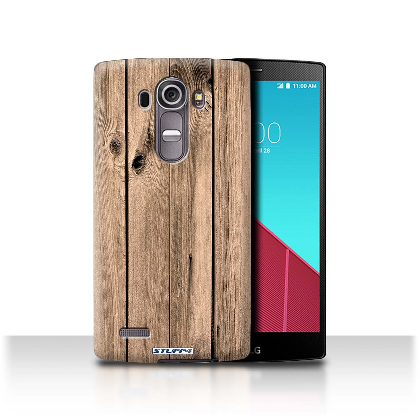 STUFF4 Phone Case/Back Cover for LG G4/H815/H818 /Wood Grain Effect/Pattern