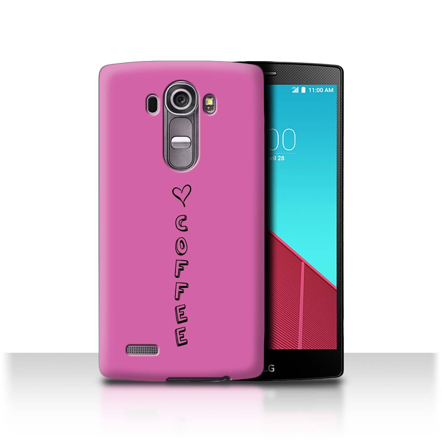 Stuff 4 teléfono caso/cubierta trasera para LG G4/H815/H818/Corazón Xoxo