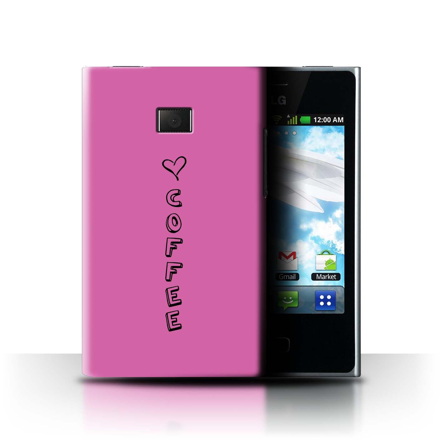 Stuff 4 teléfono caso/cubierta trasera para LG Optimus L3 E400/Corazón Xoxo