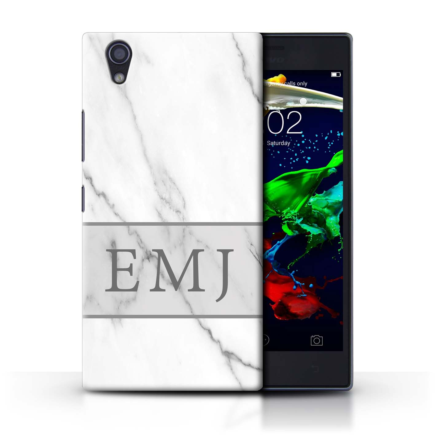 Personalised-Custom-Marble-Granite-Phone-Case-for-Lenovo-P70-Initial-Name-Cover