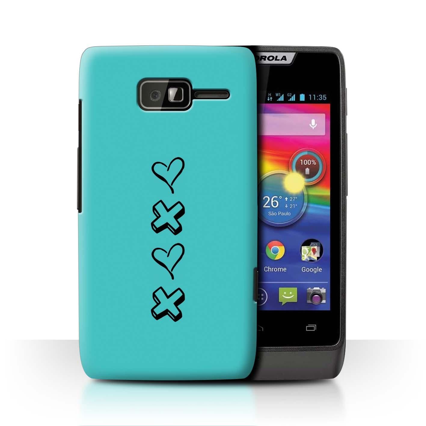 Stuff 4 teléfono caso/cubierta trasera para Motorola Razr D1/Corazón Xoxo