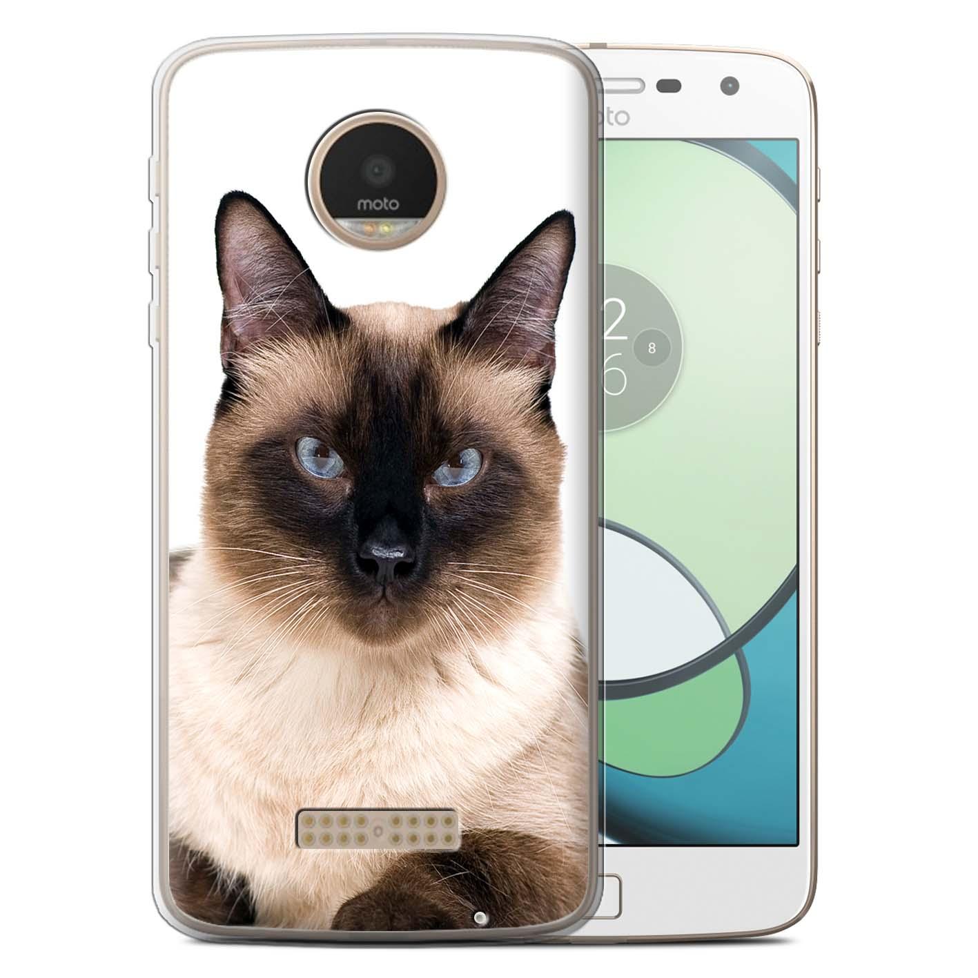 STUFF4 Gel TPU Case Cover for Motorola Moto Z Play Droid Cat