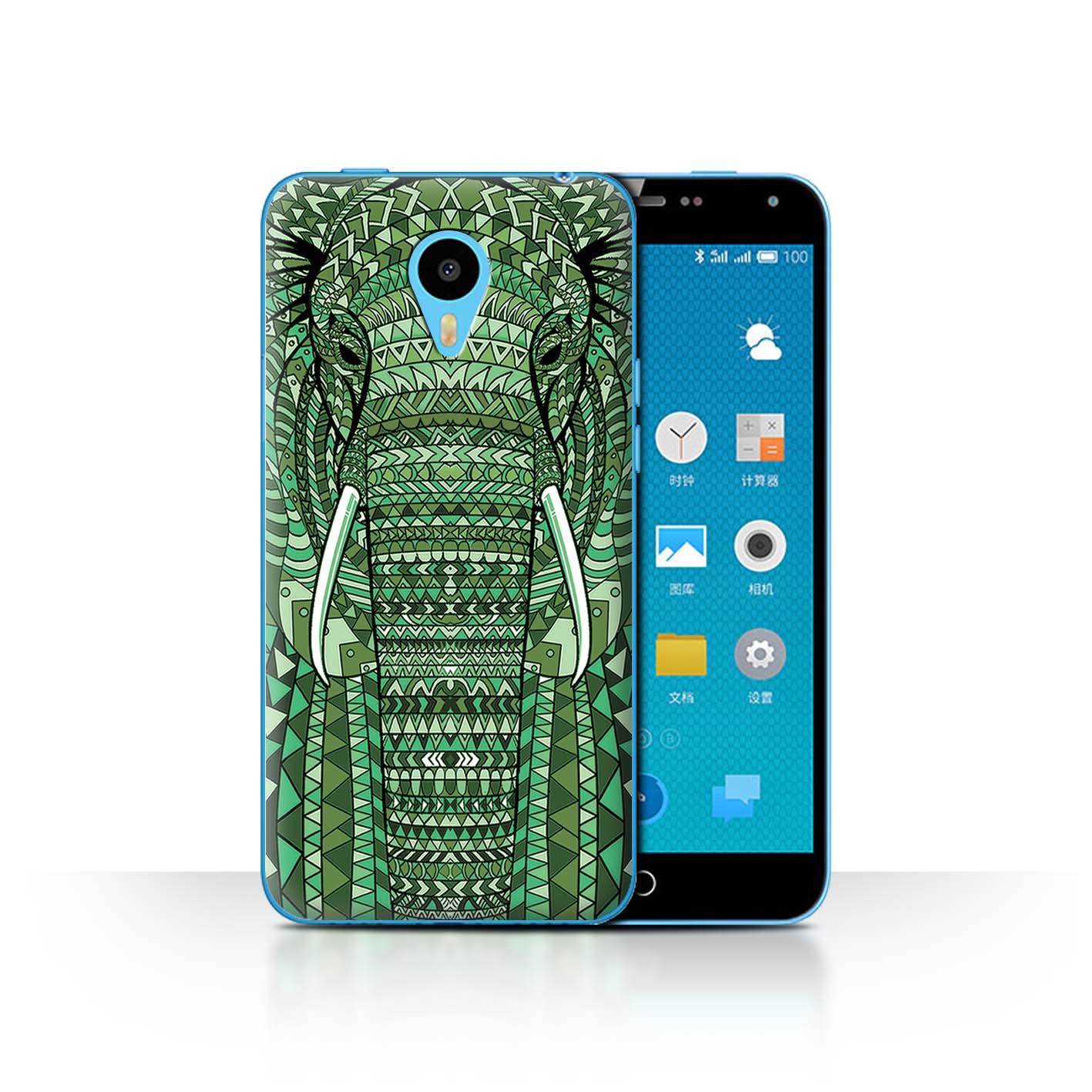 STUFF4-Back-Case-Cover-Skin-for-Meizu-M1N-Aztec-Animal-Design