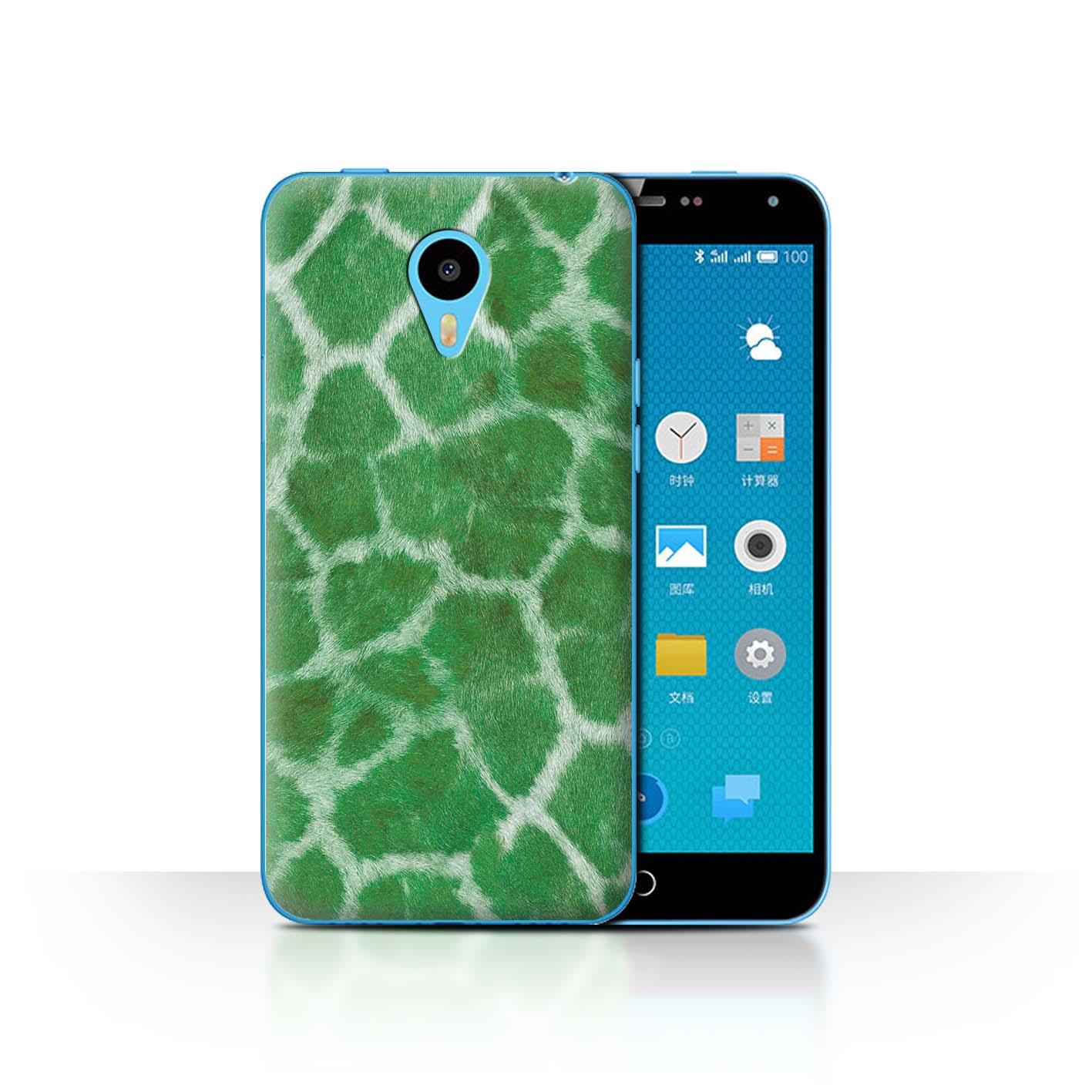 STUFF4-Back-Case-Cover-Skin-for-Meizu-M1N-Giraffe-Animal-Skin-Print