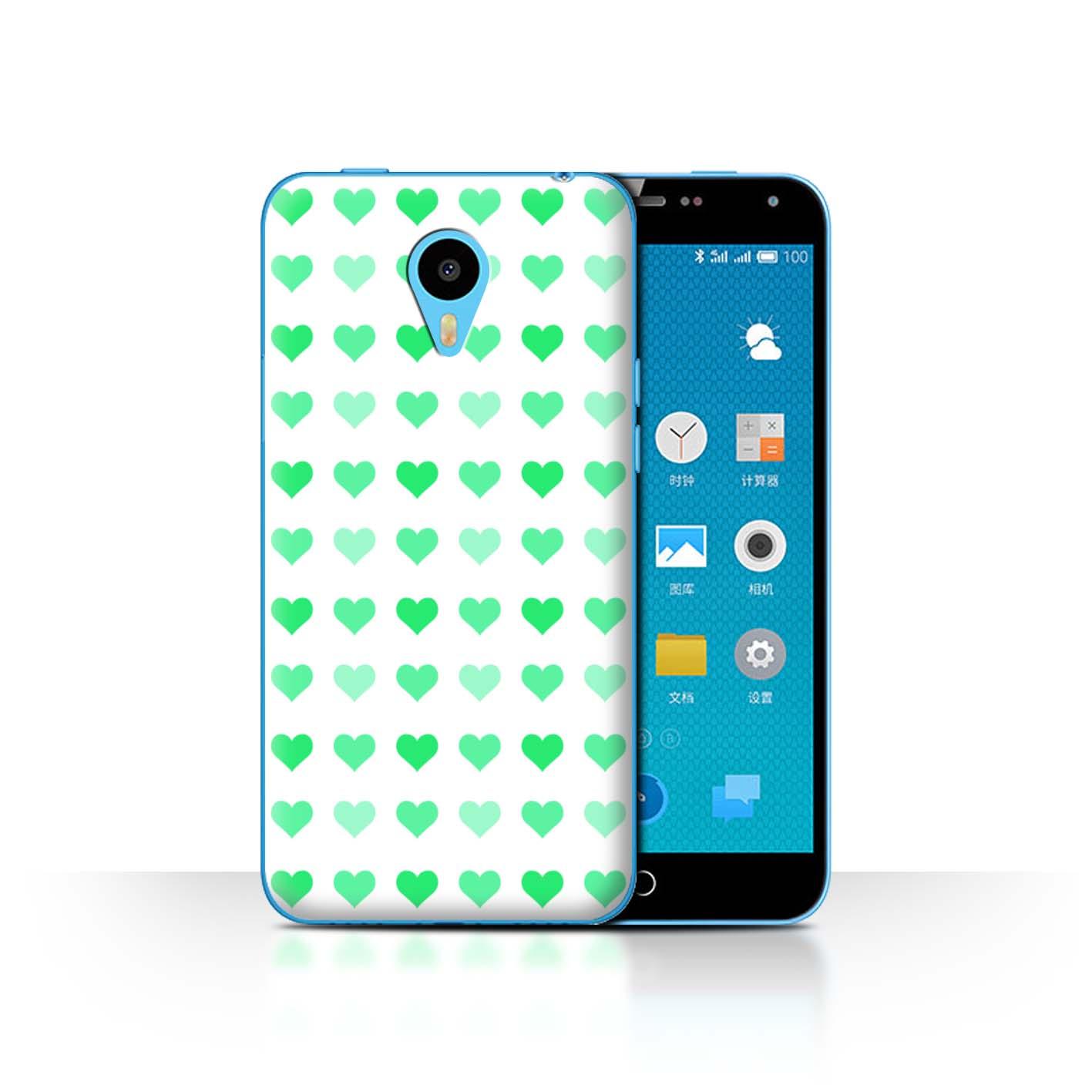 STUFF4-Back-Case-Cover-Skin-for-Meizu-M1N-Love-Heart-Stencil