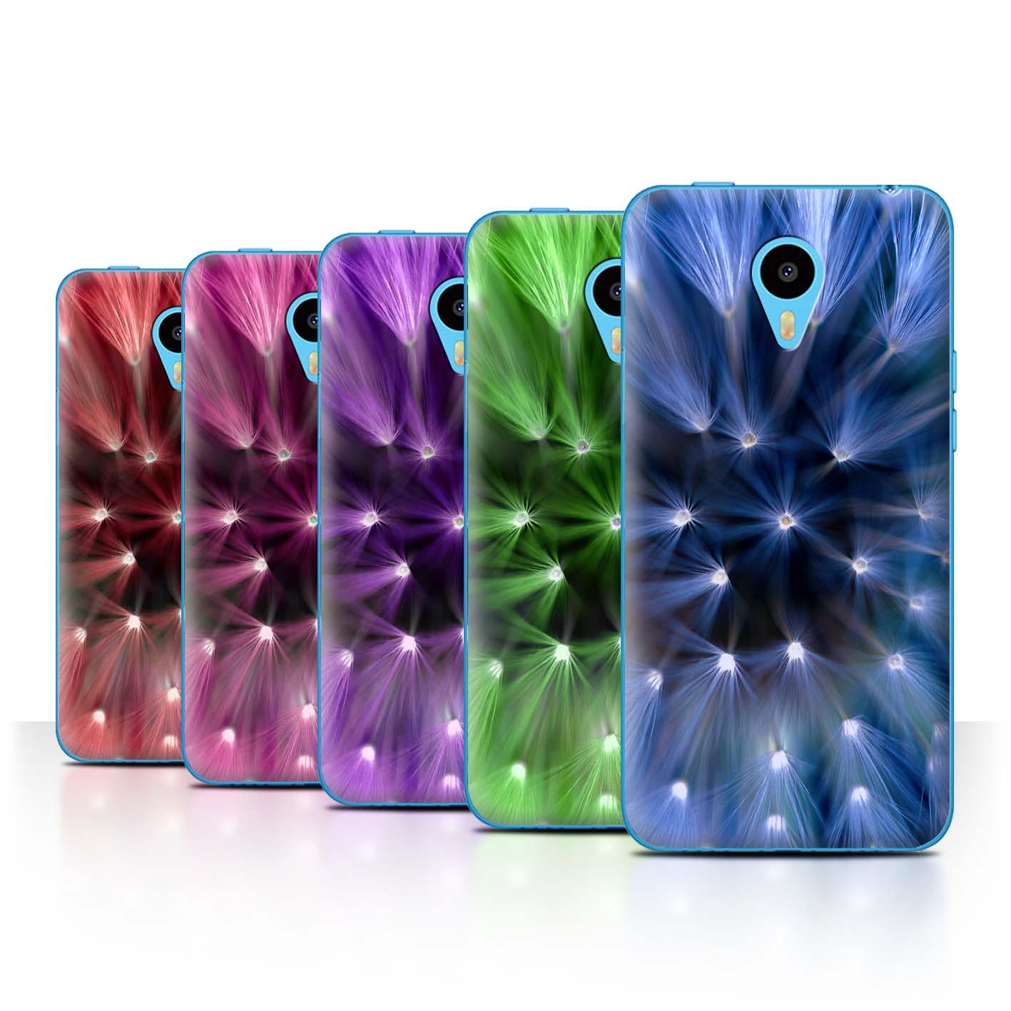 STUFF4-Back-Case-Cover-Skin-for-Meizu-M1N-Floral-Flower-Lights