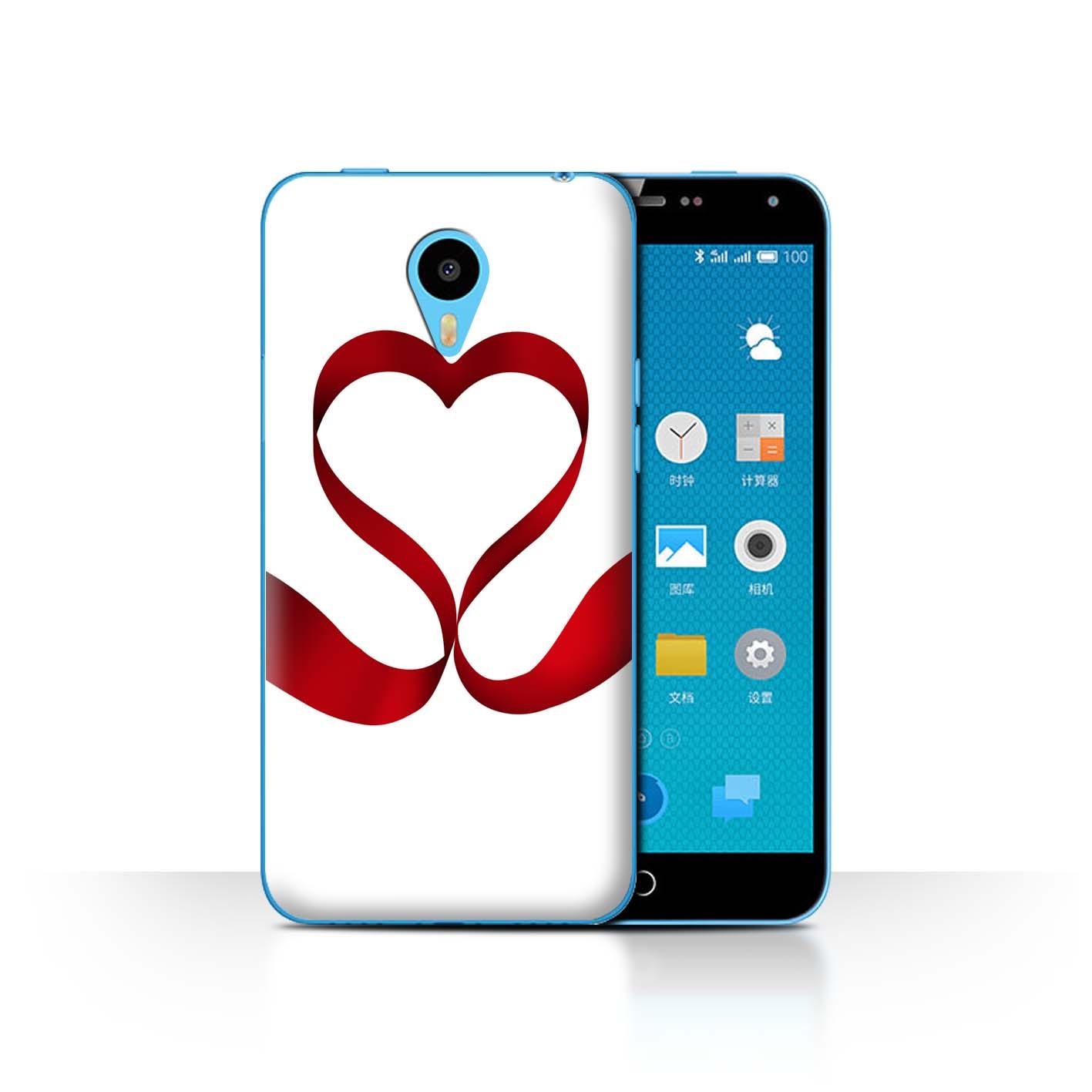STUFF4-Back-Case-Cover-Skin-for-Meizu-M1N-Valentine-Heart
