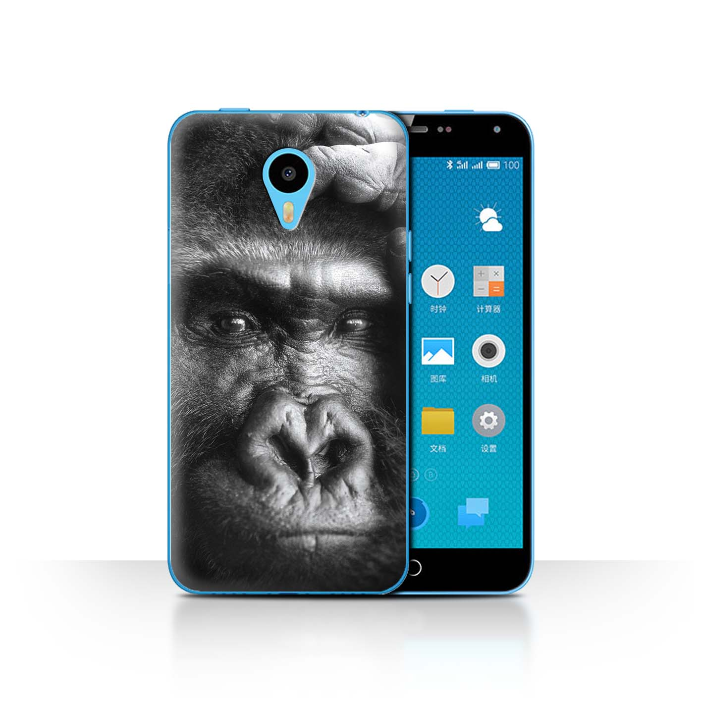 STUFF4-Phone-Case-for-Meizu-Smartphone-Wildlife-Animals-Protective-Cover