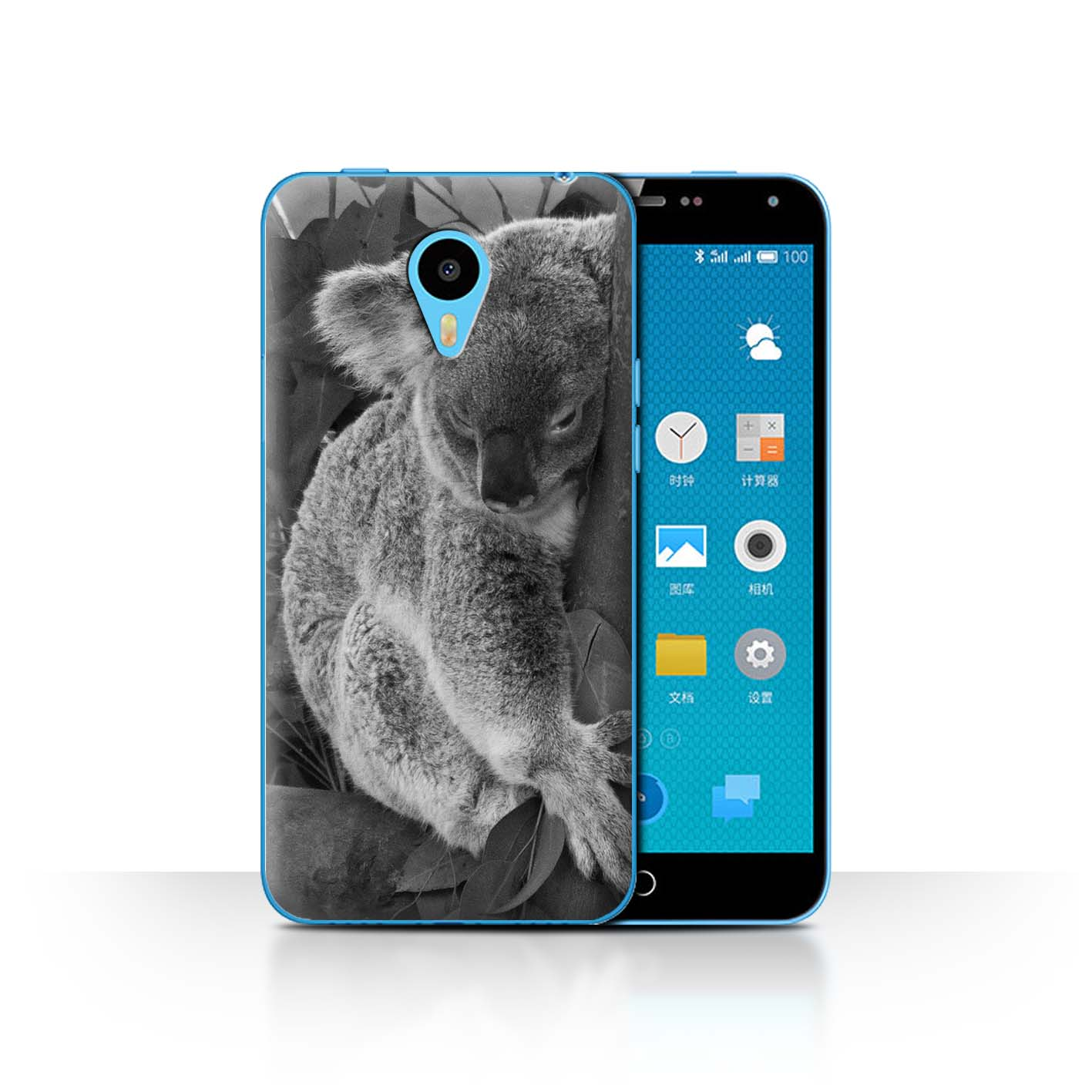 STUFF4-Phone-Case-for-Meizu-Smartphone-Mono-Zoo-Animals-Protective-Cover