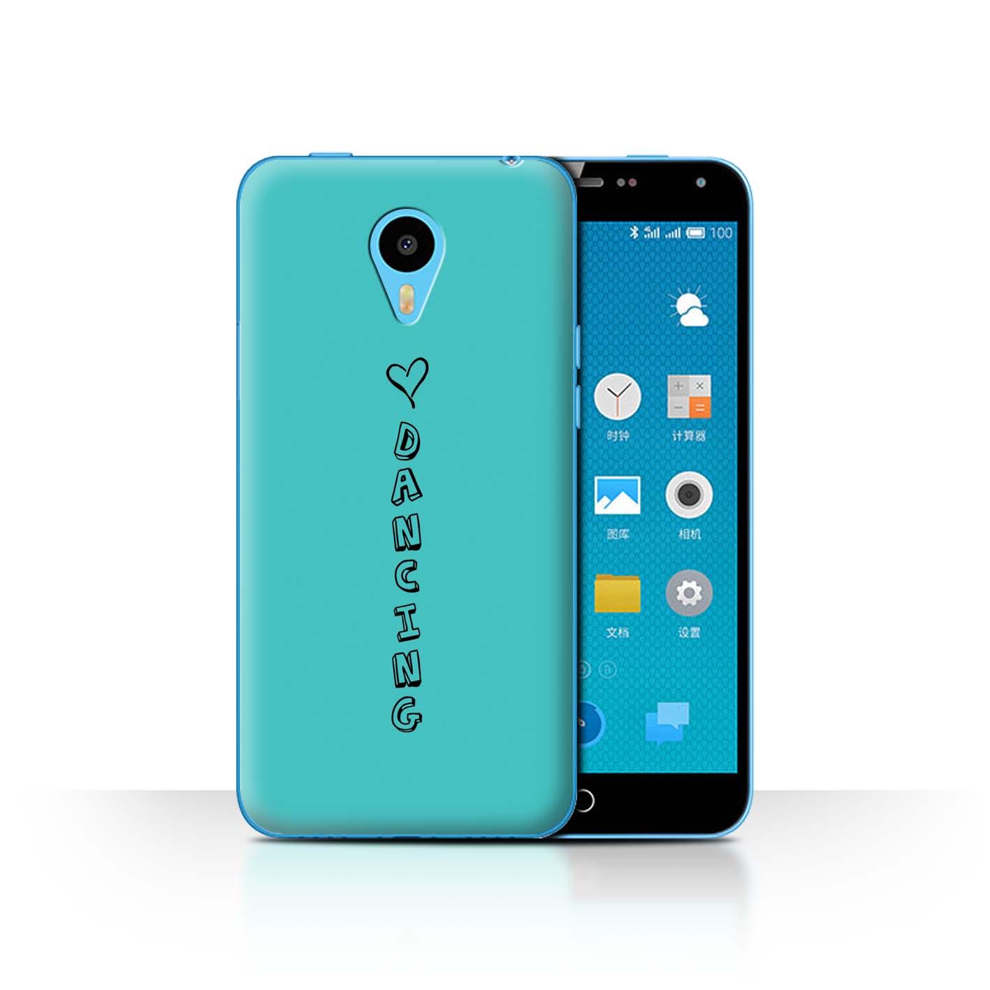 STUFF4 Phone Case/Back Cover for Meizu M1N /Heart XOXO
