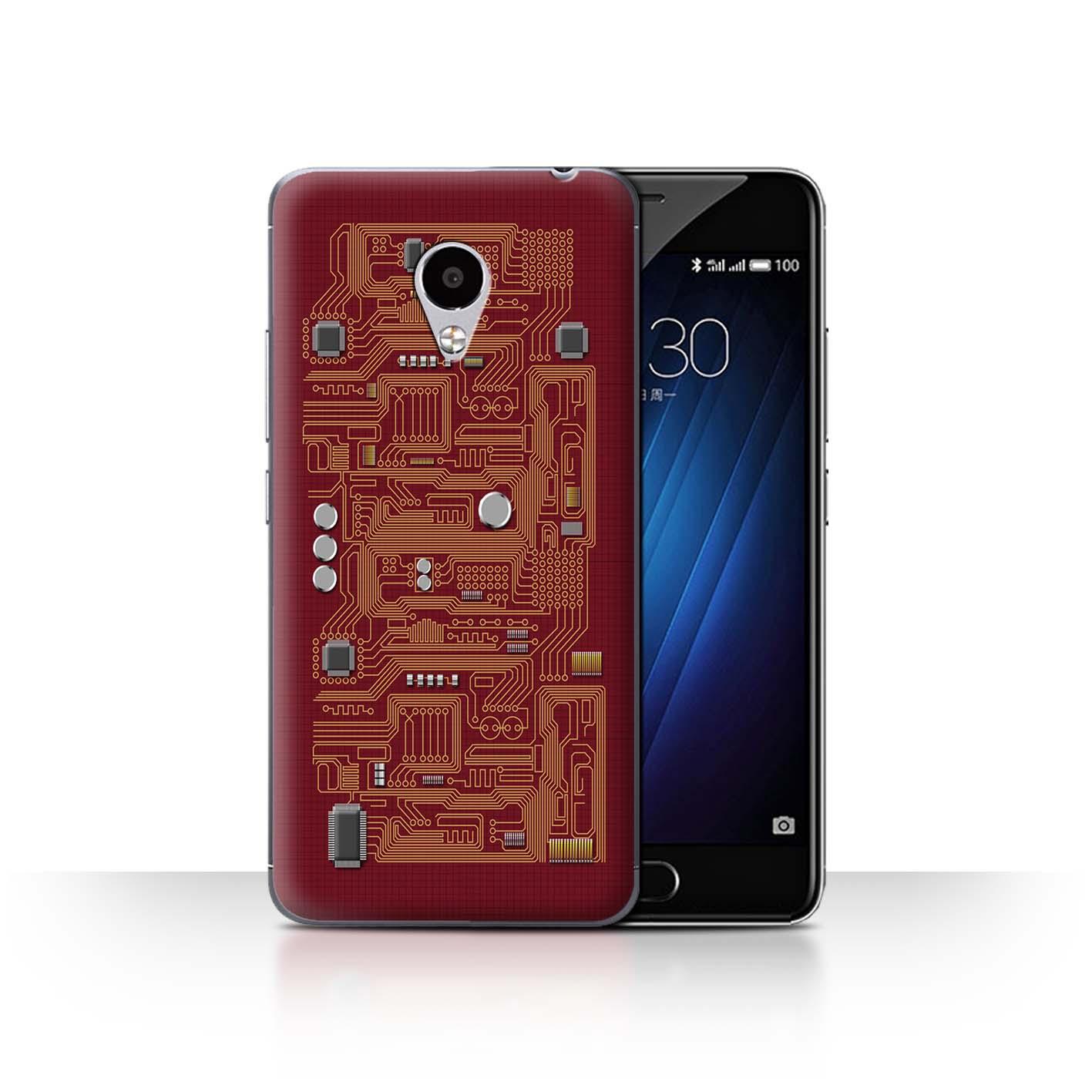 STUFF4-Back-Case-Cover-Skin-for-Meizu-M3S-Circuit-Board