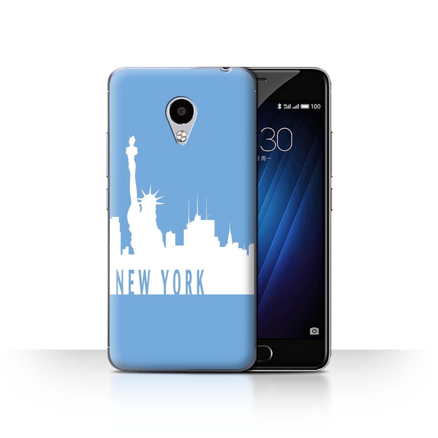 STUFF4-Back-Case-Cover-Skin-for-Meizu-M3S-City-Skyline