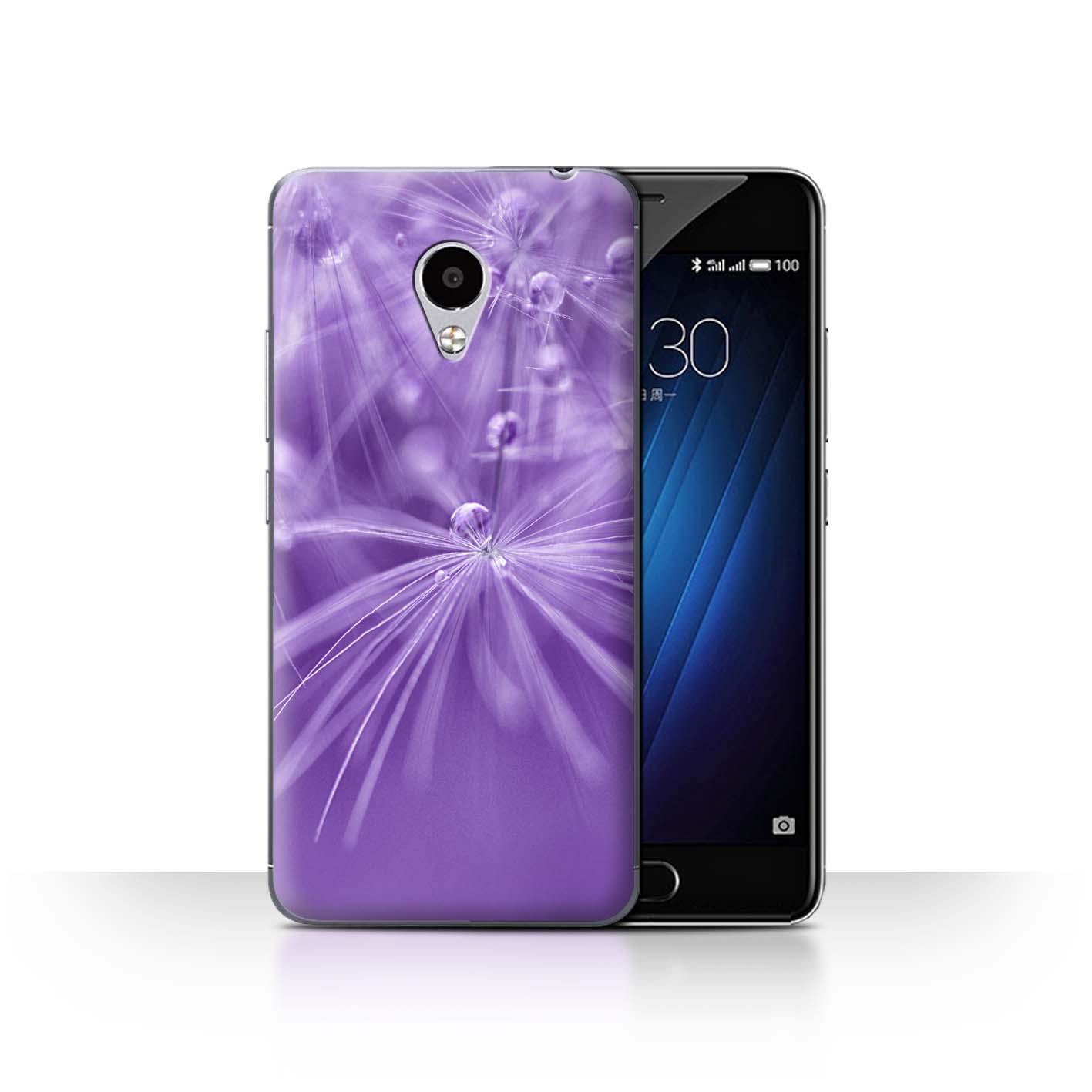 STUFF4-Back-Case-Cover-Skin-for-Meizu-M3S-Floral-Fairy-Drops