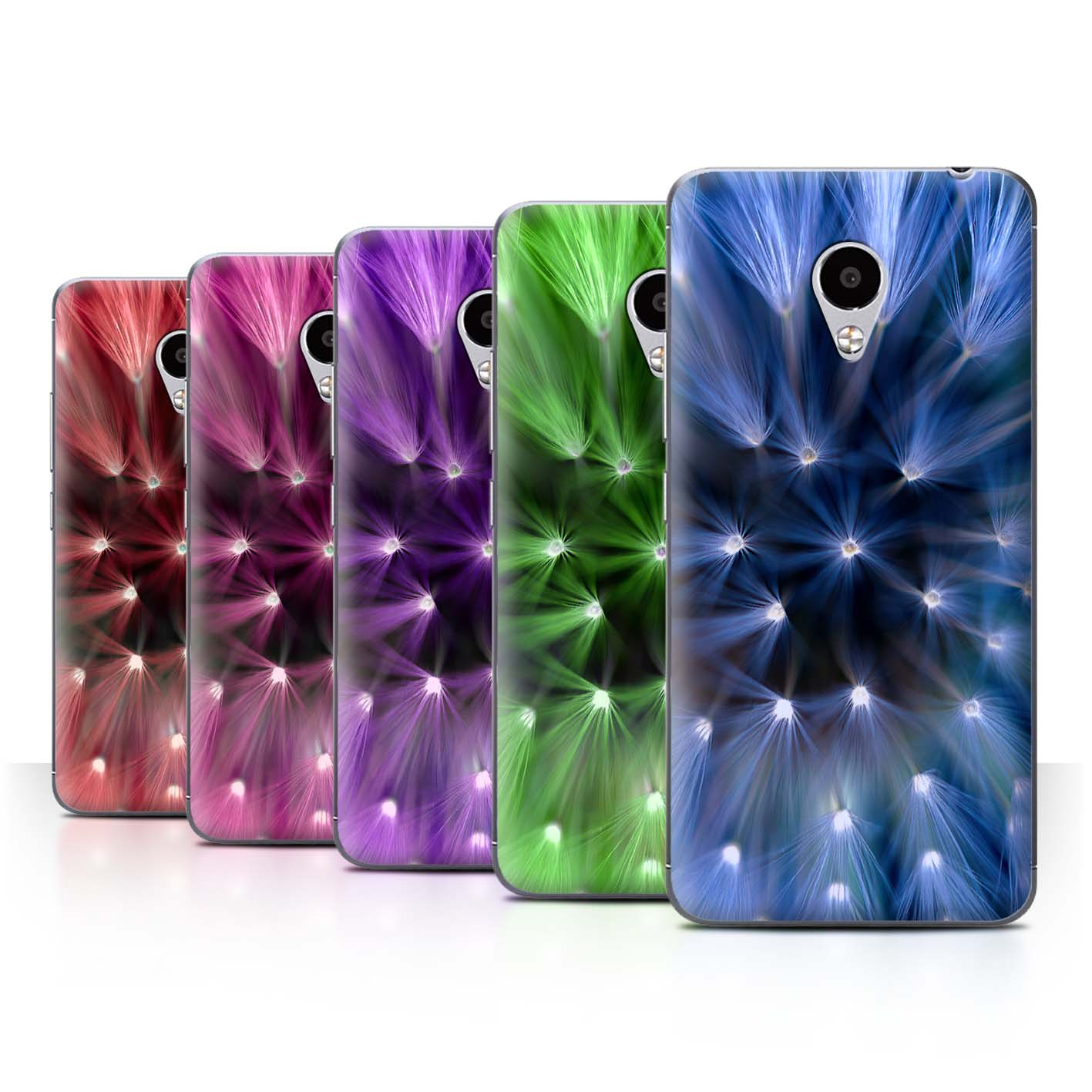 STUFF4-Back-Case-Cover-Skin-for-Meizu-M3S-Floral-Flower-Lights