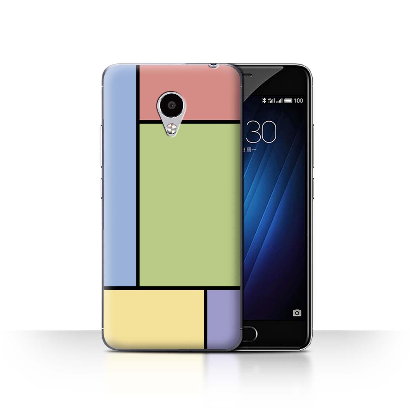 STUFF4-Back-Case-Cover-Skin-for-Meizu-M3S-Pastel-Tiles