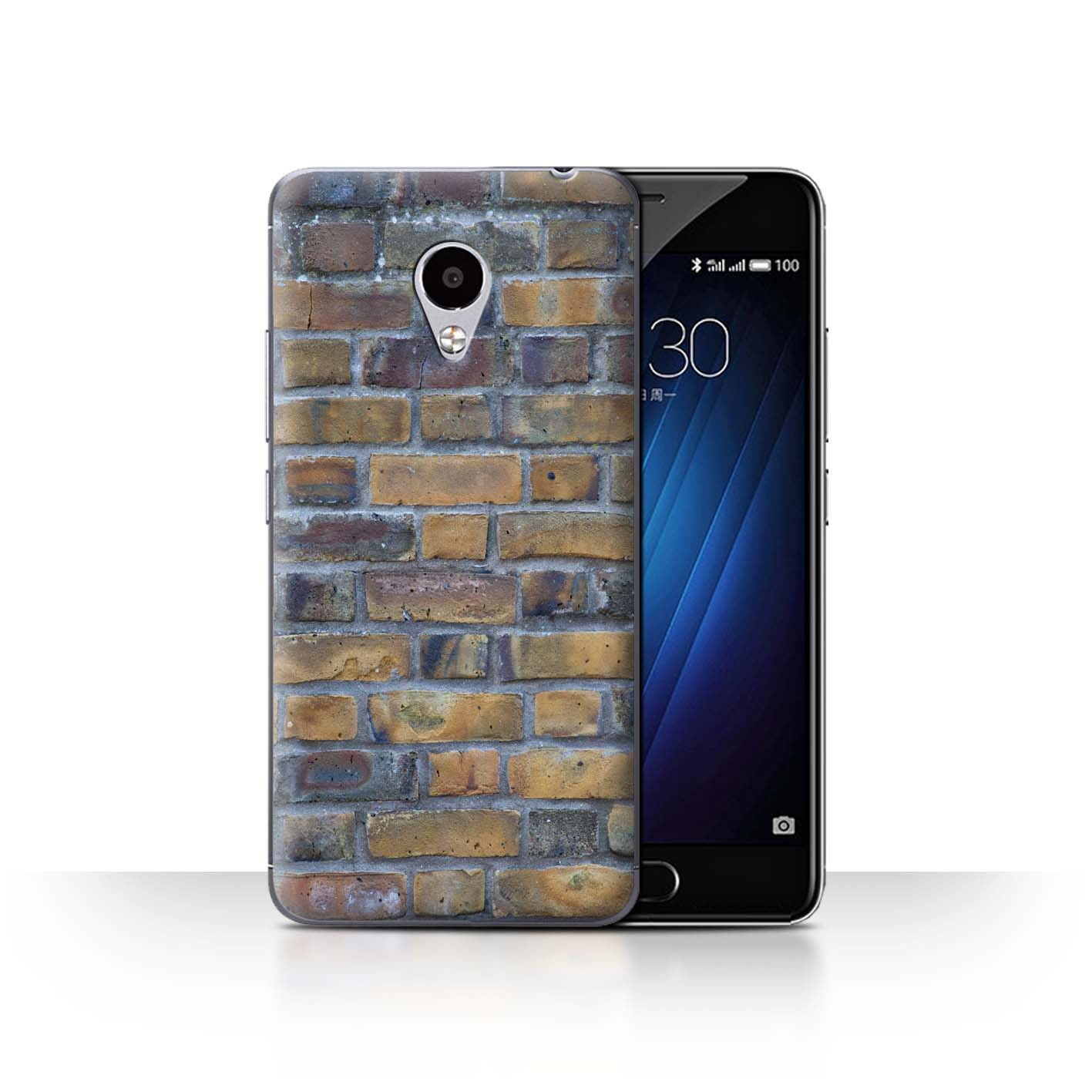 STUFF4-Back-Case-Cover-Skin-for-Meizu-M3S-Brickwork