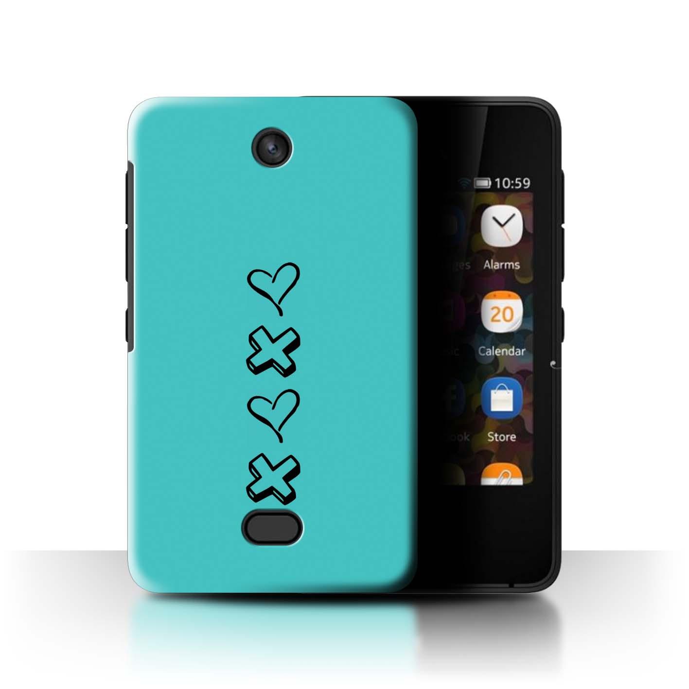 Stuff4 Hülle/Case/Backcover für Nokia Asha 501/Herz XOXO