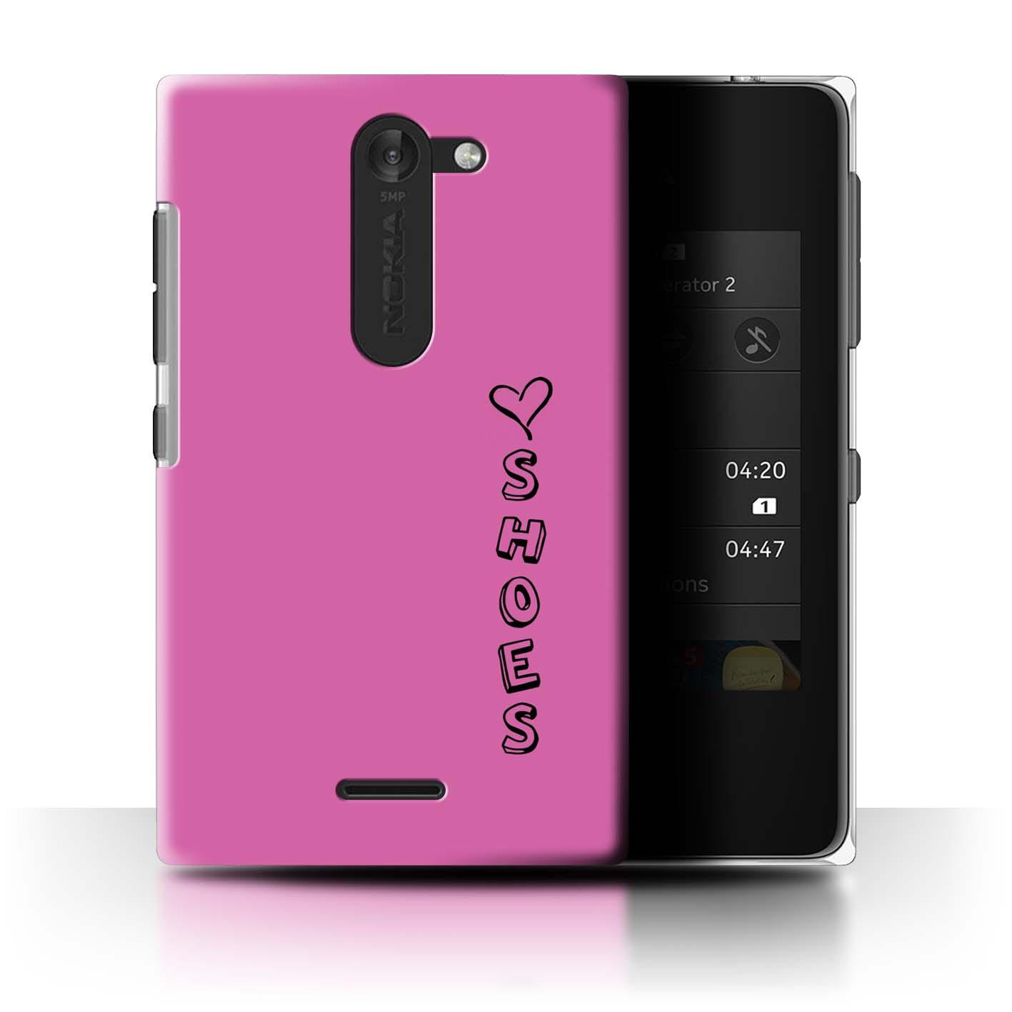 Stuff 4 teléfono caso/cubierta trasera para Nokia Asha 502 Dual/Corazón Xoxo