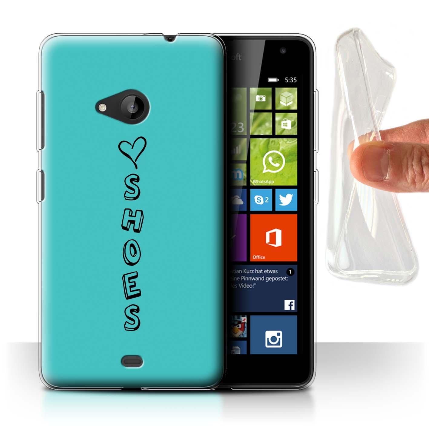 Stuff4 Gel/TPU Hülle/Case für Microsoft Lumia 535/Herz XOXO
