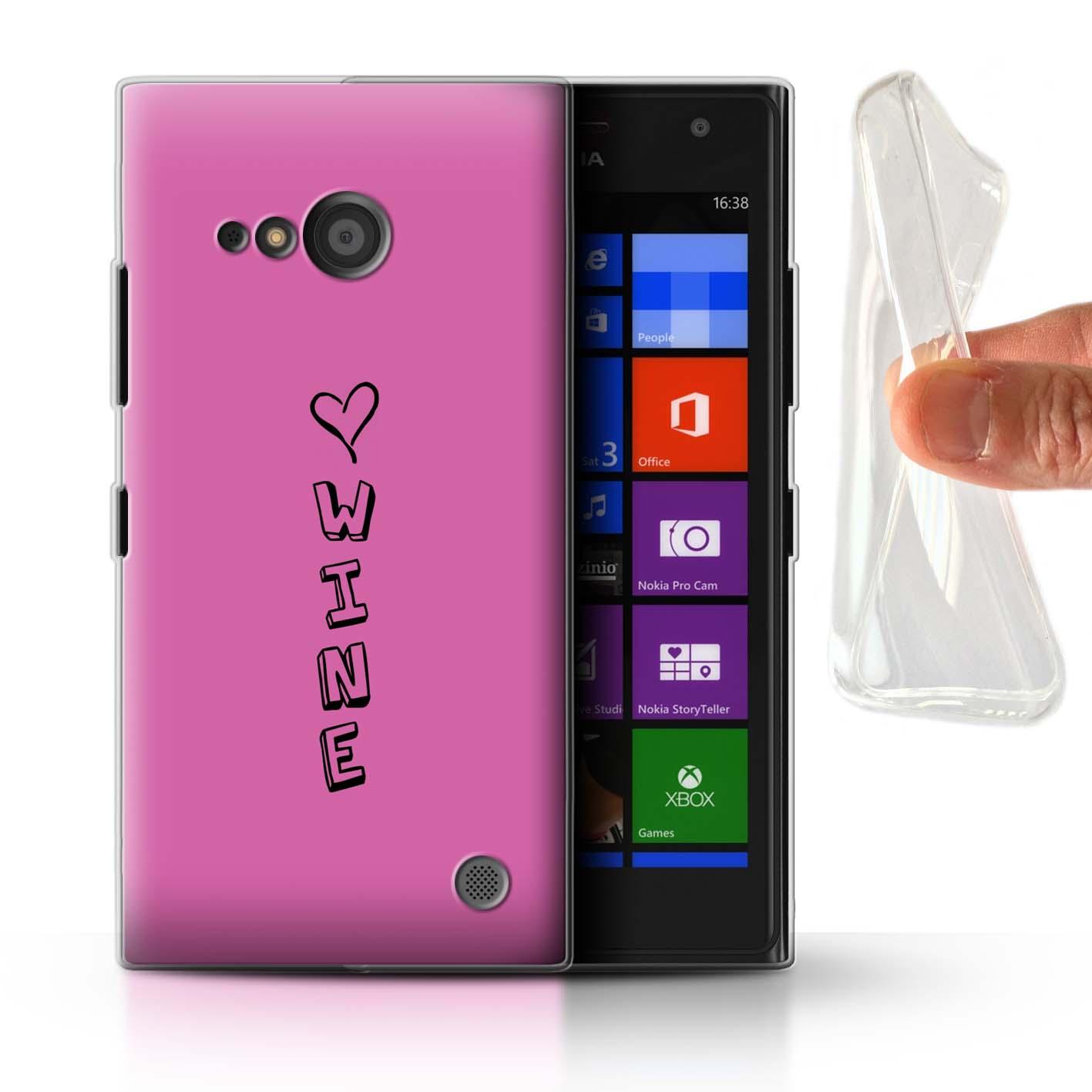 Stuff 4 Gel/TPU Funda De Teléfono Para Nokia Lumia 735/Corazón Xoxo