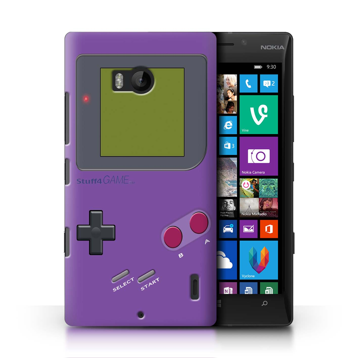 STUFF4-Back-Case-Cover-Skin-for-Nokia-Lumia-Icon-Video-Gamer-Gameboy