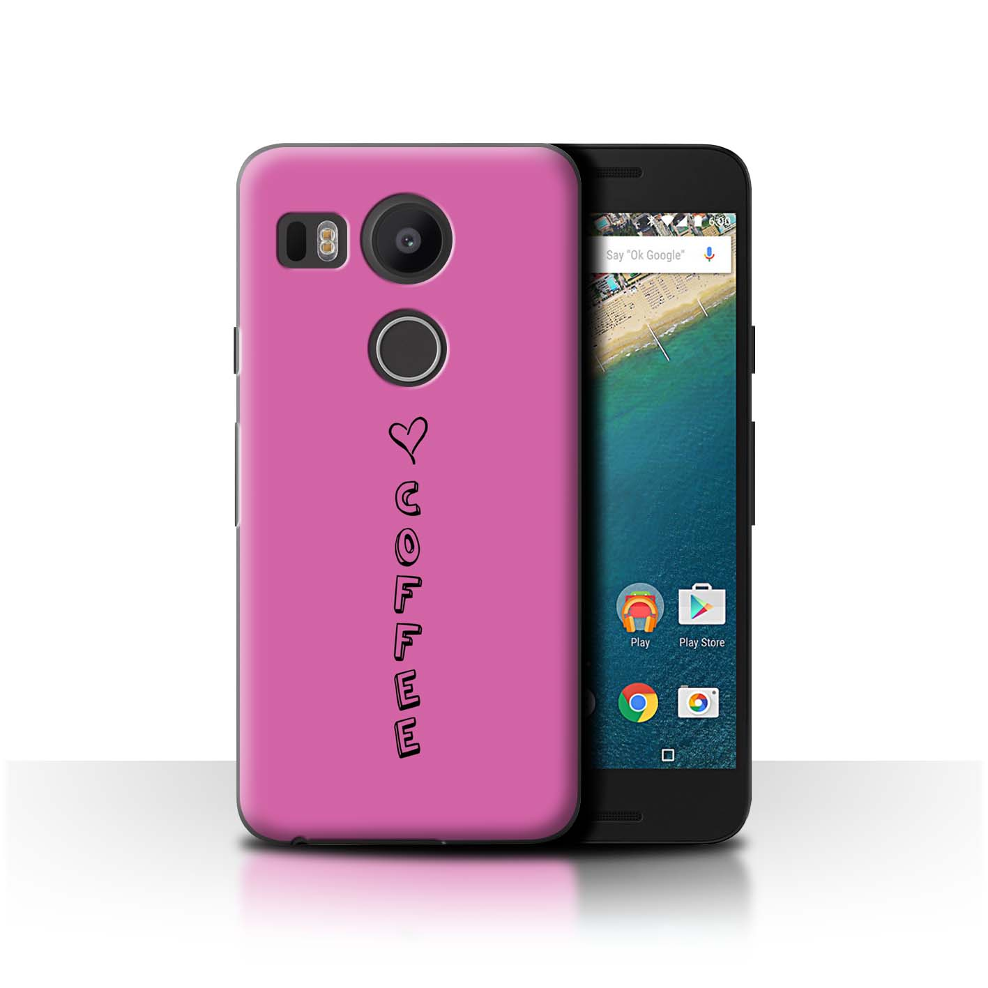 Stuff 4 teléfono caso/cubierta trasera para LG Nexus 5X/Corazón Xoxo