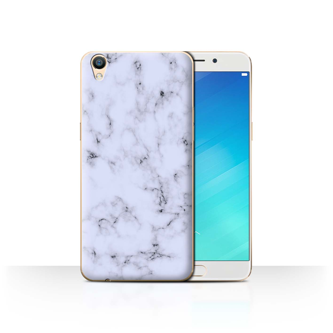 Stuff4 Back Case Cover Skin For Oppo F1 Plus R9 55 Marble Rock F1s New