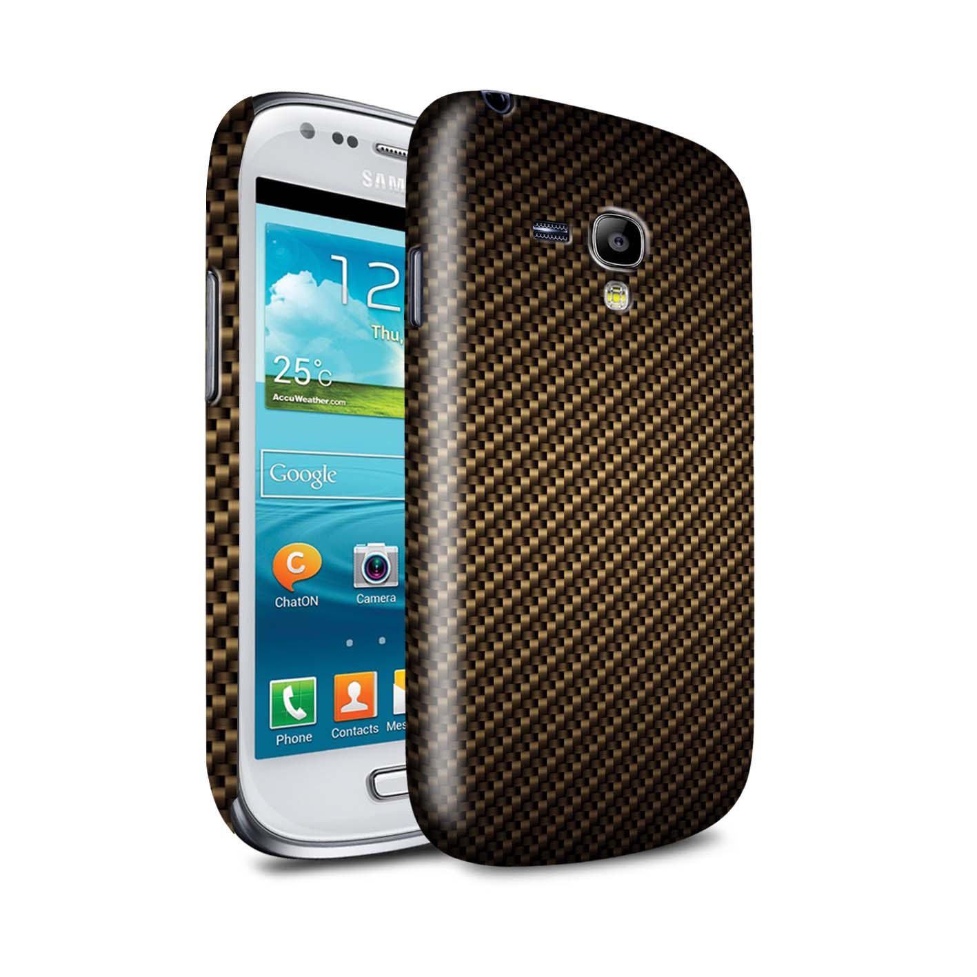 STUFF4-Coque-Brillant-pour-Samsung-Galaxy-Motif-de-Fibre-de-Carbone-Housse-Etui