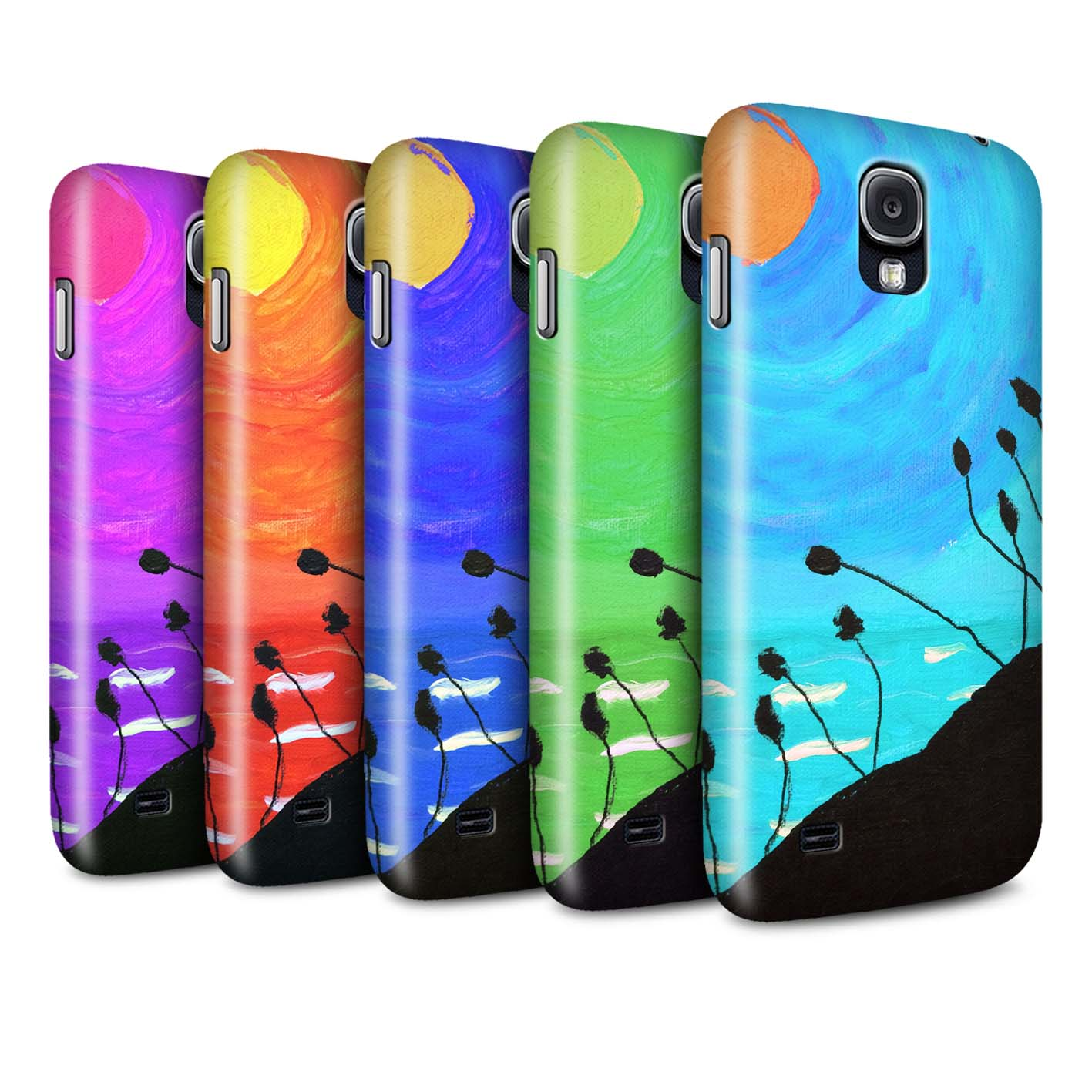 STUFF4-Matte-Phone-Case-for-Samsung-Galaxy-S4-SIV-Sunset-Oil-Painting