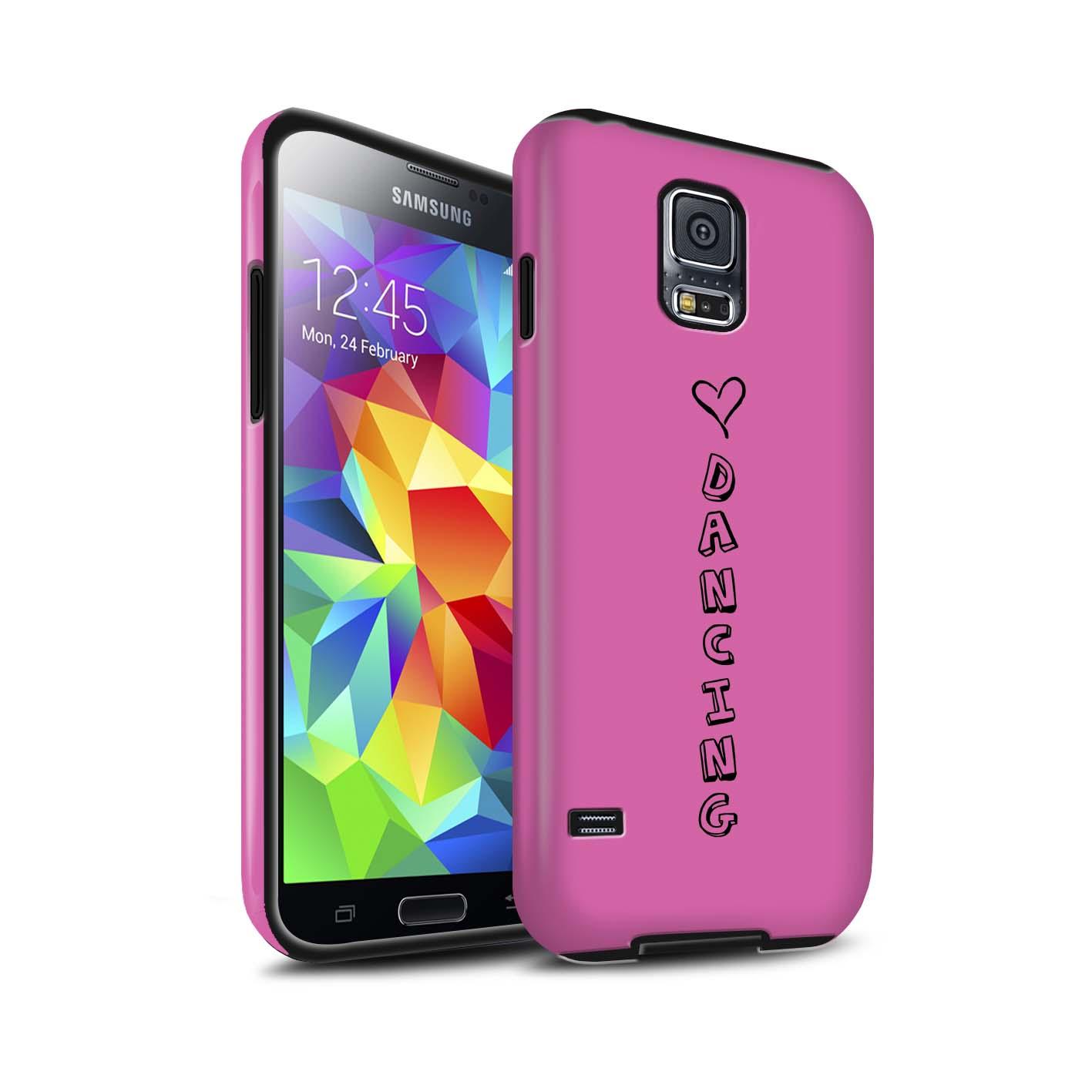 STUFF4 Matte Zähen Stoßfestes Hülle/Case für Samsung Galaxy S5/SV /Herz XOXO