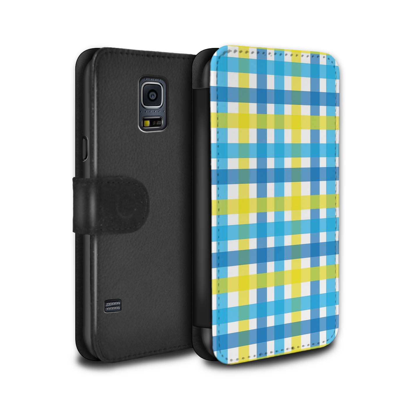 STUFF4-PU-Leather-Case-Cover-Wallet-for-Samsung-Galaxy-S5-Mini-Yellow-Fashion
