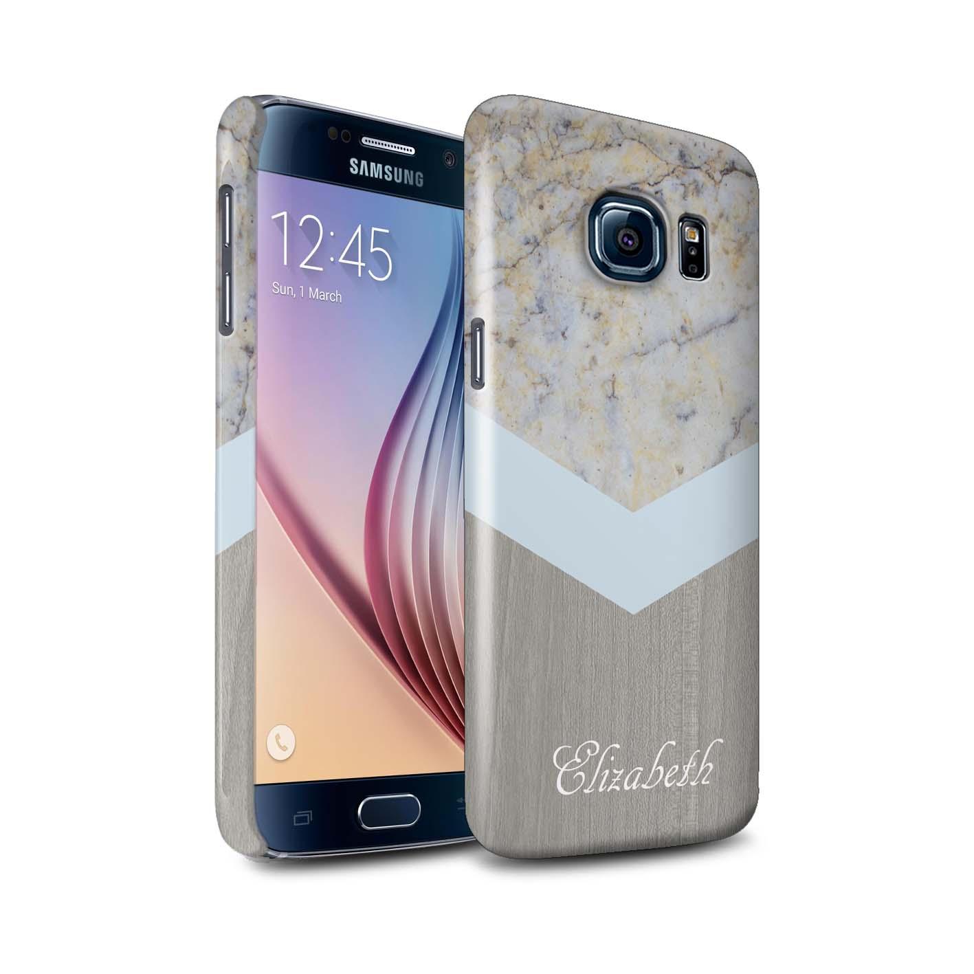 Personnalise-Marbre-Bois-Coutume-Coque-Brillant-pour-Samsung-Galaxy-S6-G920