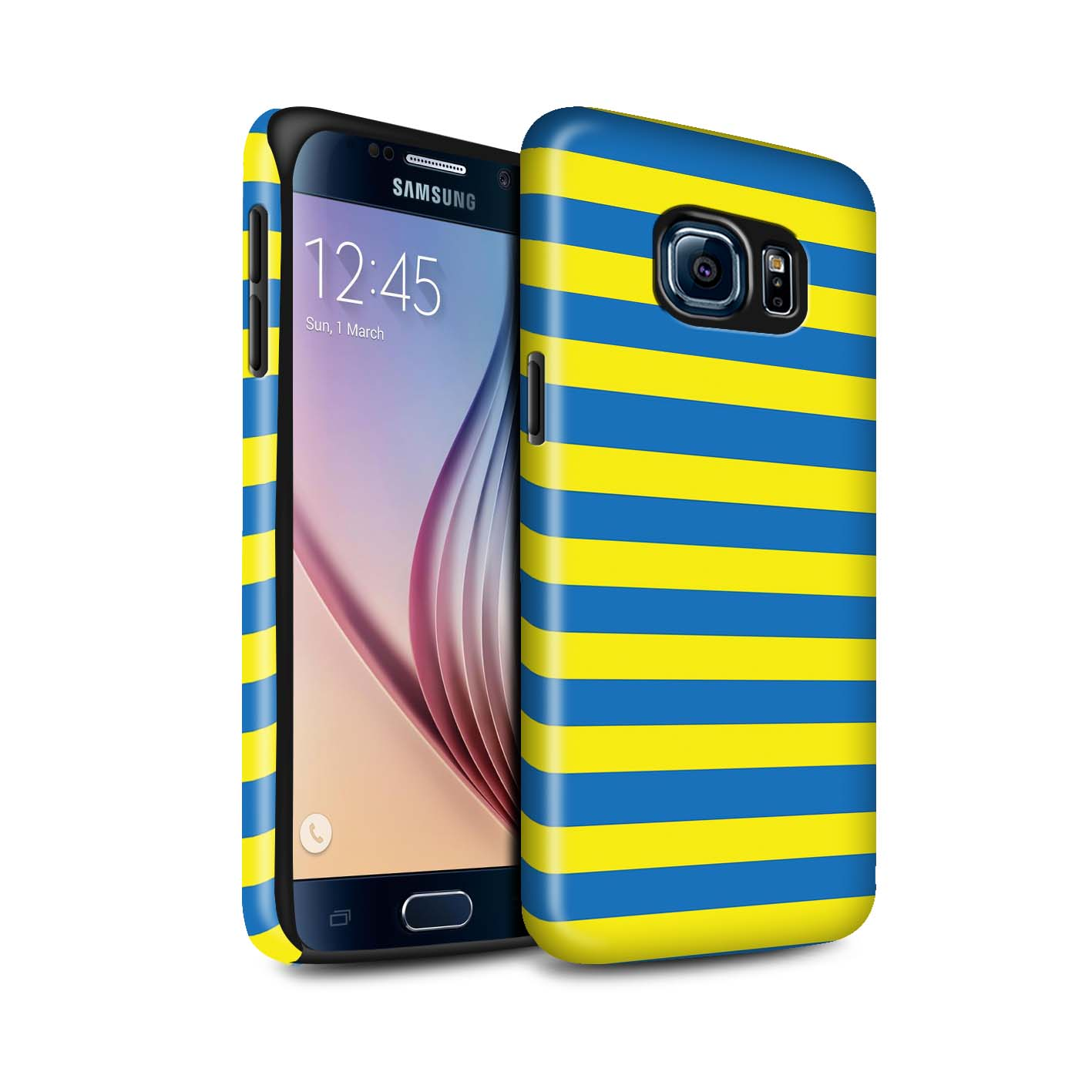 STUFF4-Gloss-Tough-Phone-Case-for-Samsung-Galaxy-S6-G920-Yellow-Fashion