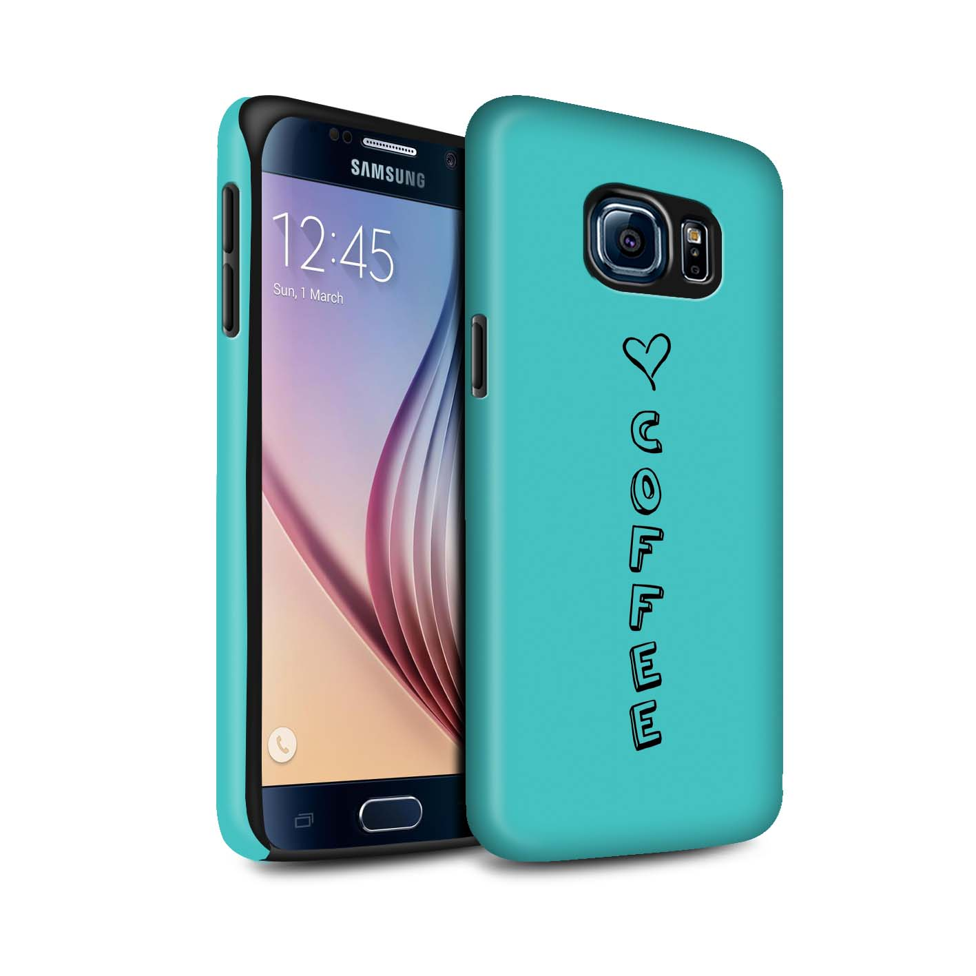 STUFF4 Matte Zähen Stoßfestes Hülle/Case für Samsung Galaxy S6/G920 /Herz XOXO