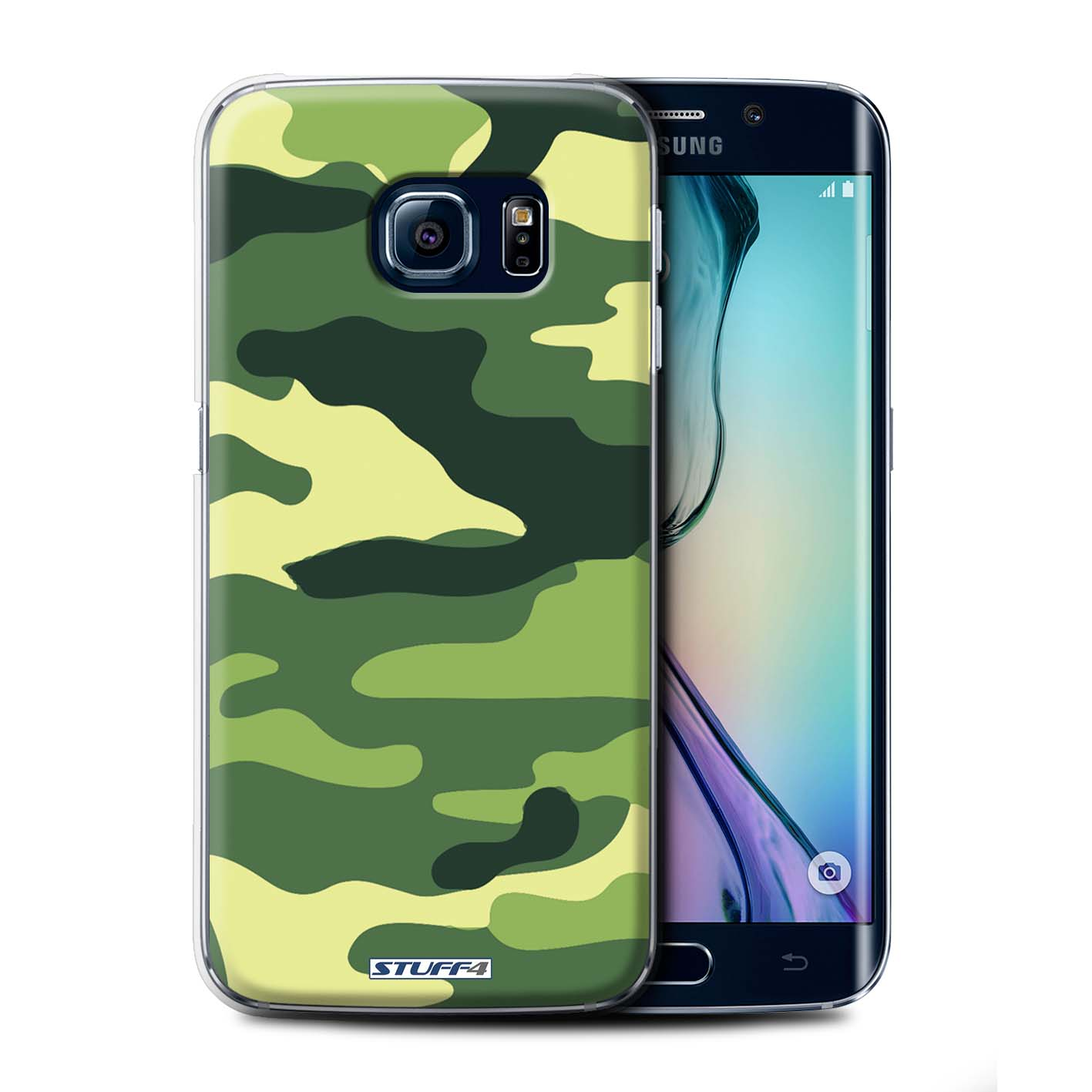 stuff4 phone case back cover for samsung galaxy s6 edge camouflage