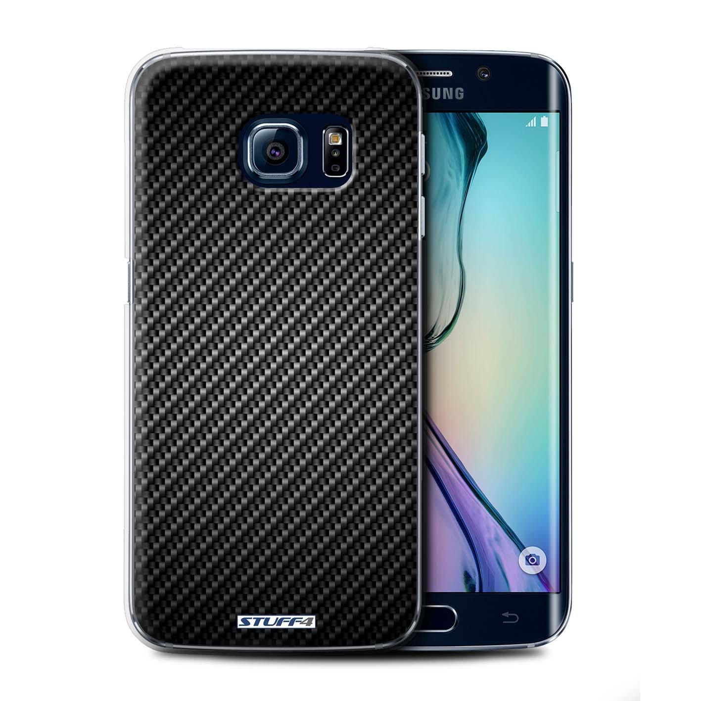Coque-Etui-de-Stuff4-pour-Samsung-Galaxy-S6-Edge-Motif-de-Fibre-de-Carbone