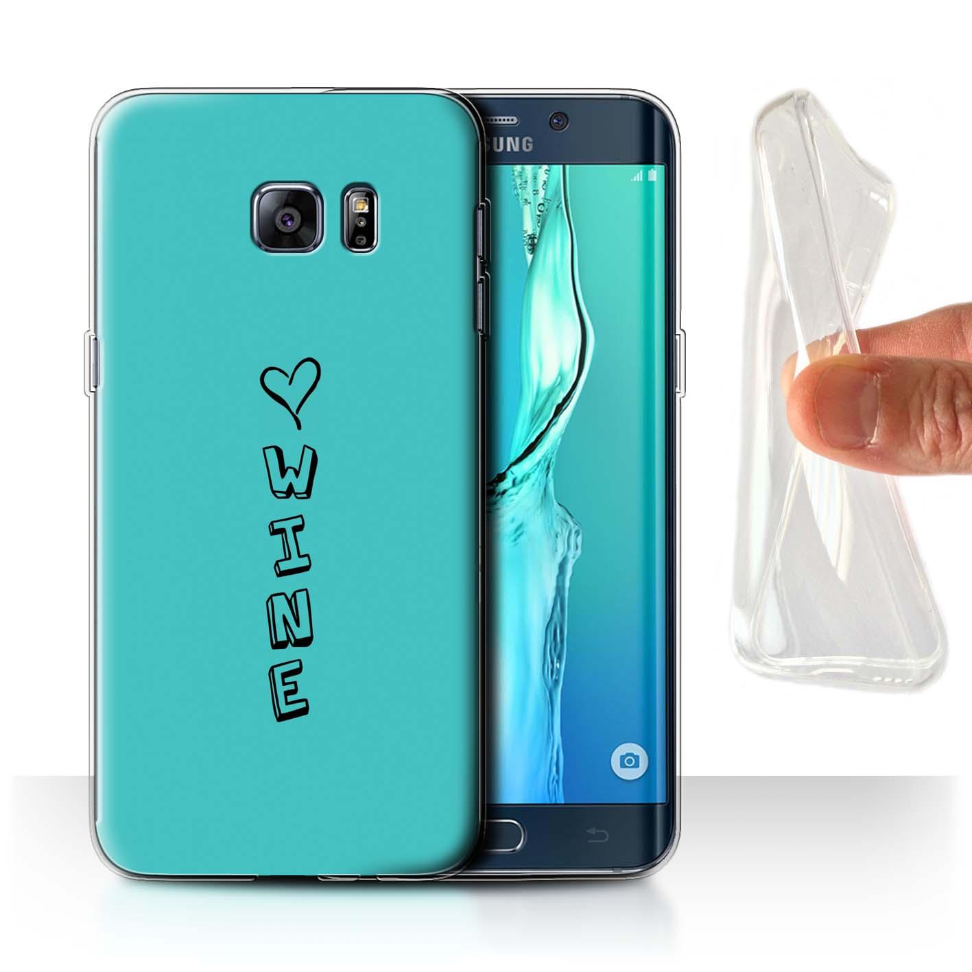 Stuff 4 Gel/TPU Funda De Teléfono Para Samsung Galaxy S6 +/Plus/Corazón Edge Xoxo
