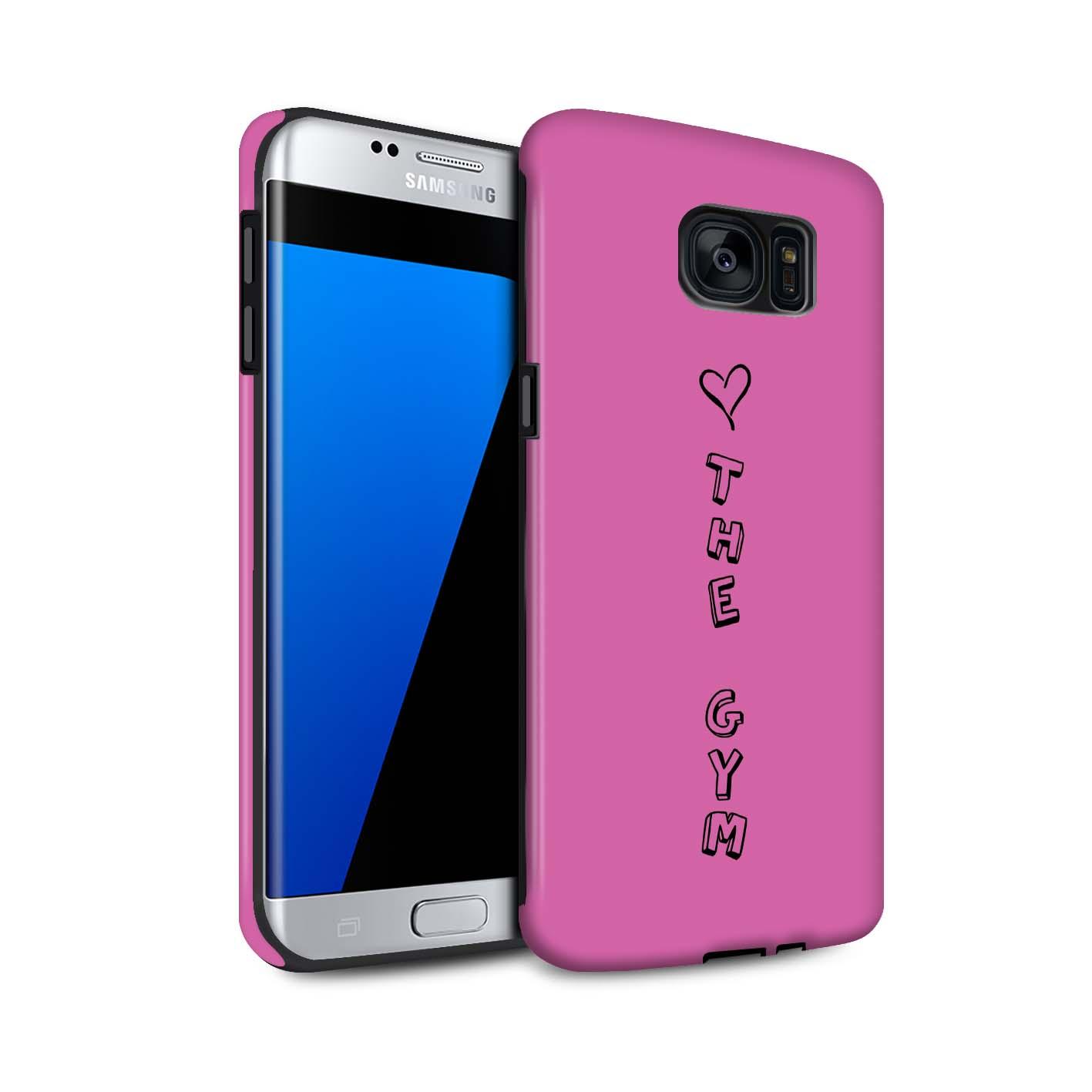 STUFF4 Matte Zähen Stoßfestes Hülle/Case Samsung Galaxy S7 Edge/G935 /Herz XOXO