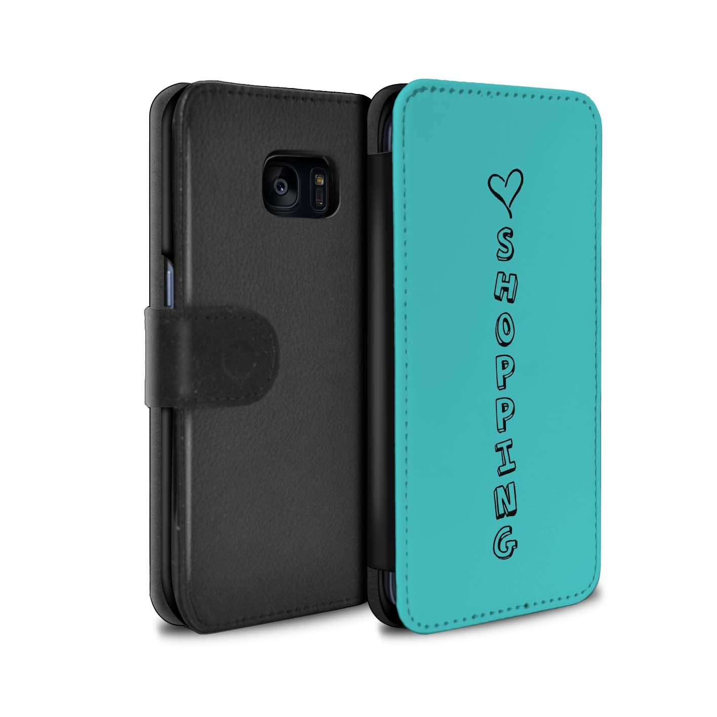STUFF4 PU-Leder Hülle/Case/Tasche für Samsung Galaxy S7 Edge/G935/Herz XOXO