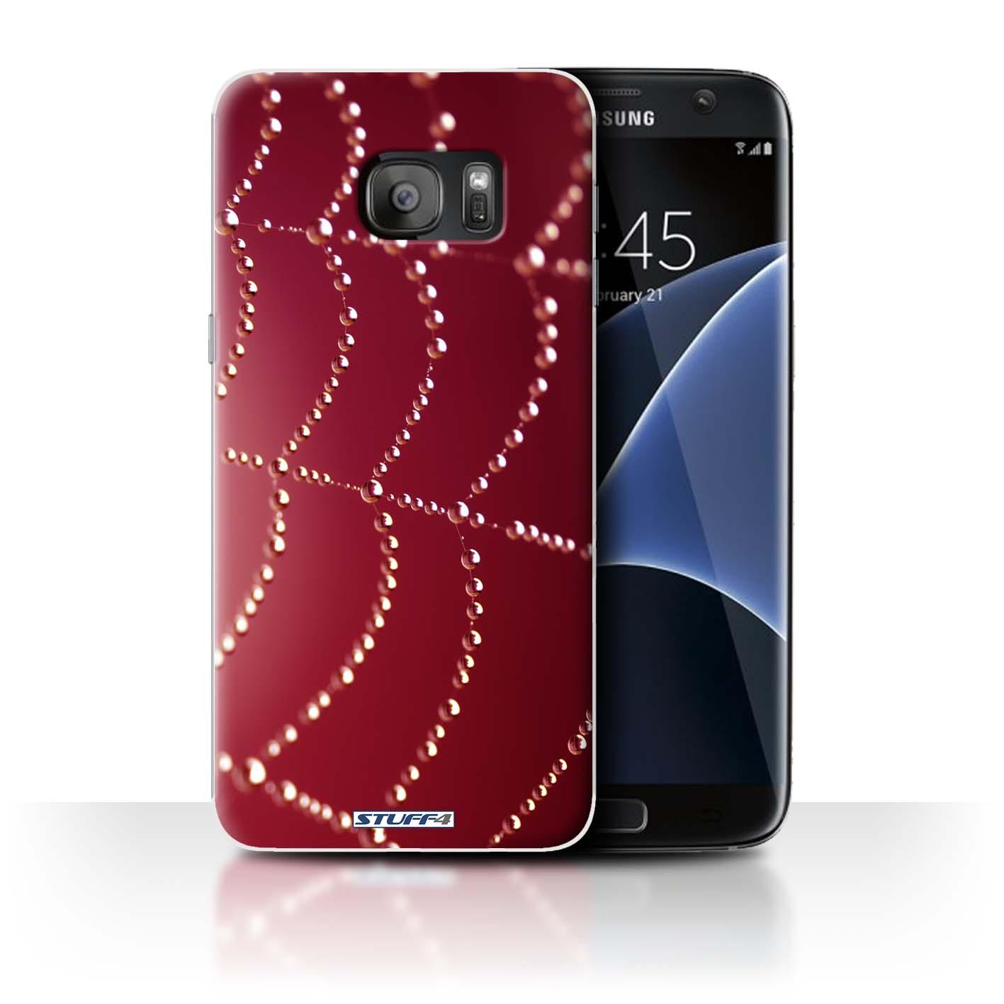 Coque-Etui-Housse-pour-Samsung-Galaxy-S7-Edge-G935-Toile-d-039-araignee-Perles