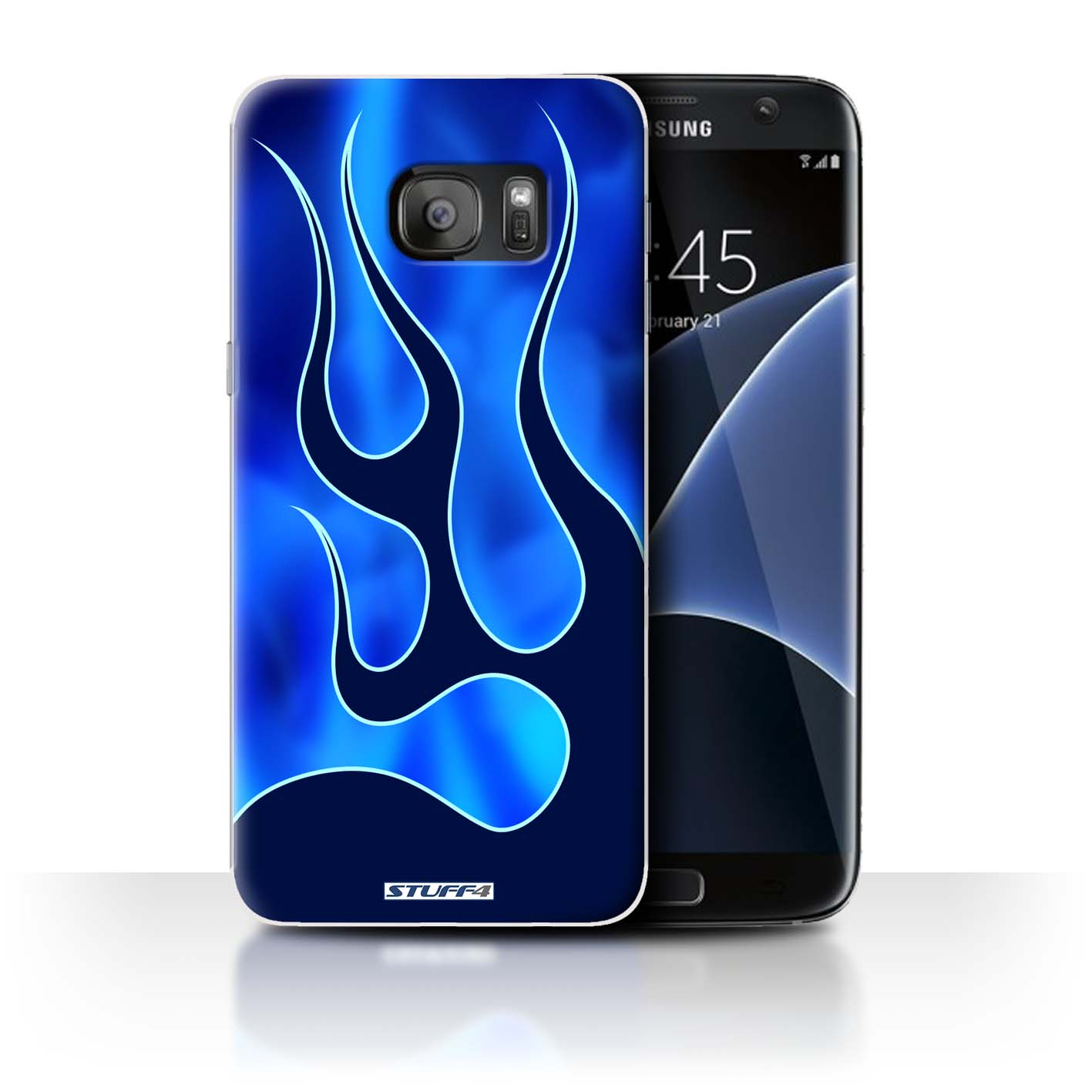 Stuff4 Back Case Cover Skin For Samsung Galaxy S7 Edge G935 Flame