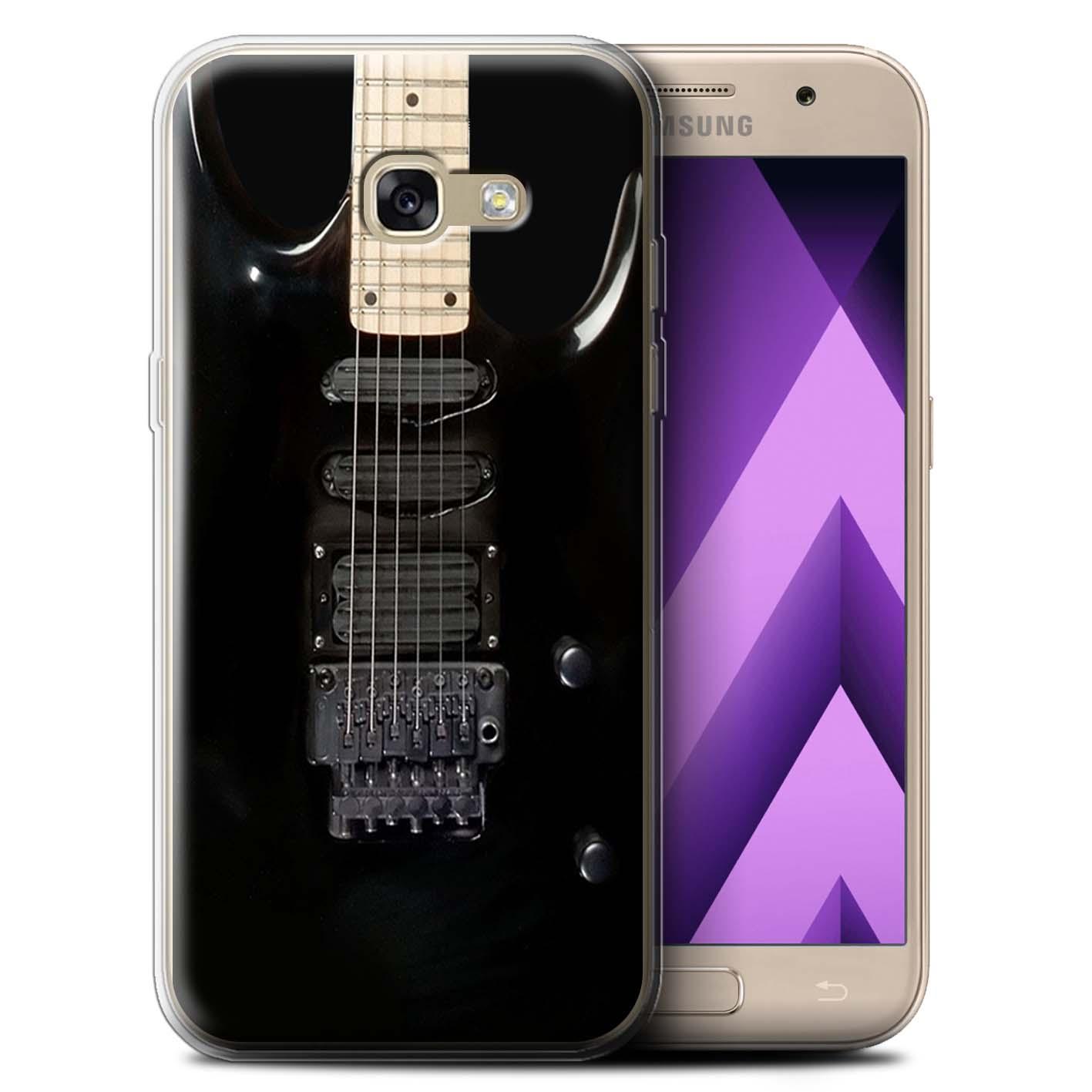 Gel-TPU-Coque-Etui-de-Stuff4-pour-Samsung-Galaxy-A5-2017-Guitare