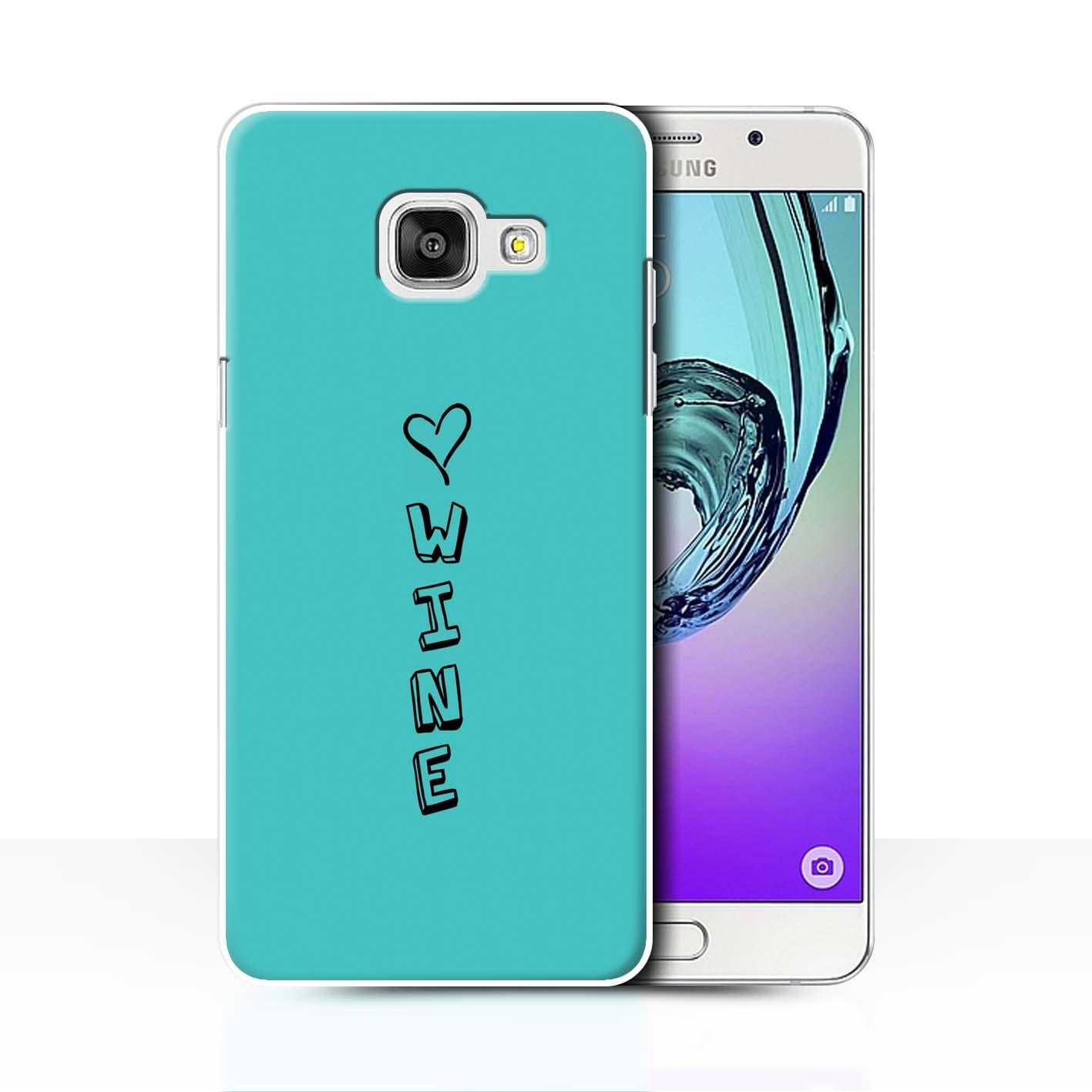 Stuff 4 teléfono caso/cubierta trasera para Samsung Galaxy A7 (2016)/Corazón Xoxo