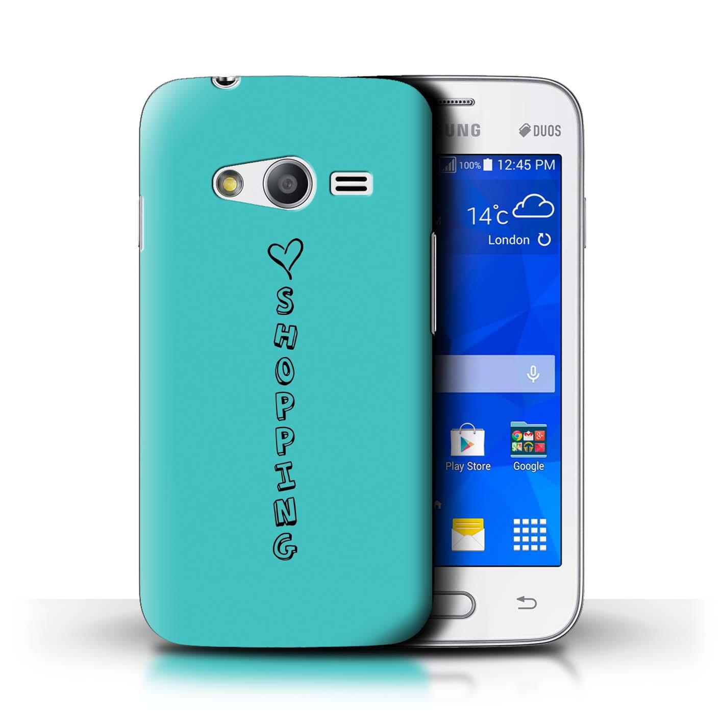 Stuff4 Hülle/Case/Backcover für Samsung Galaxy Ace NXT/Herz XOXO