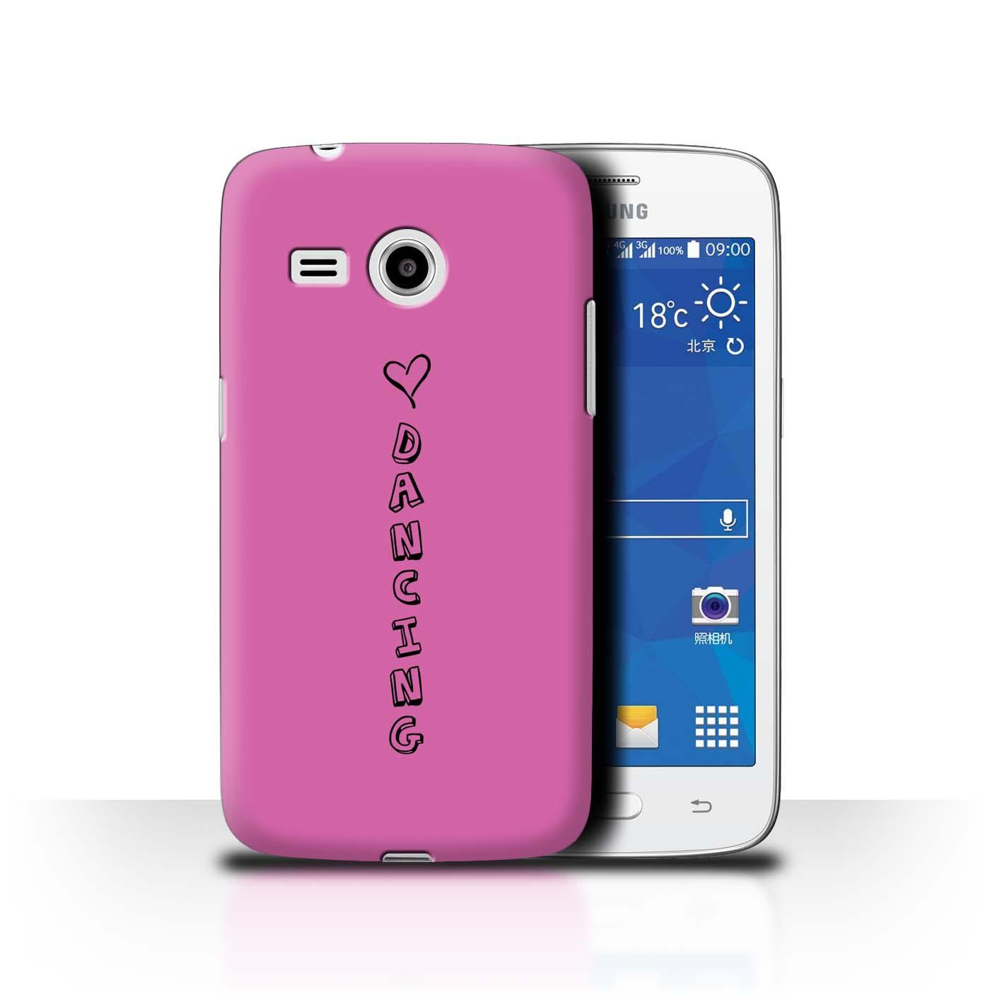 Stuff 4 teléfono caso/cubierta trasera para Samsung Galaxy Core Mini 4G/G3568/Corazón Xoxo