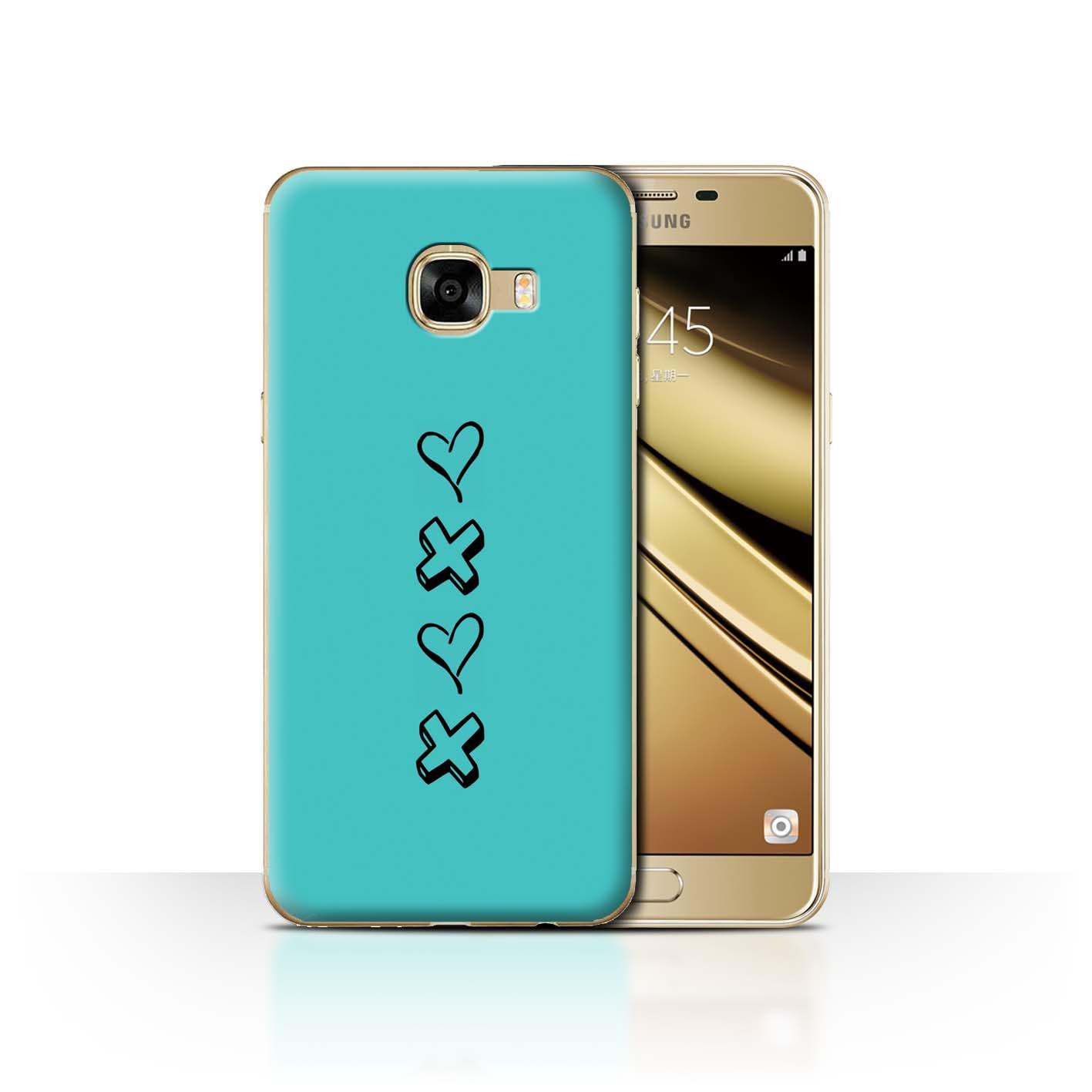 Stuff 4 teléfono caso/cubierta trasera para Samsung Galaxy C5/Corazón Xoxo